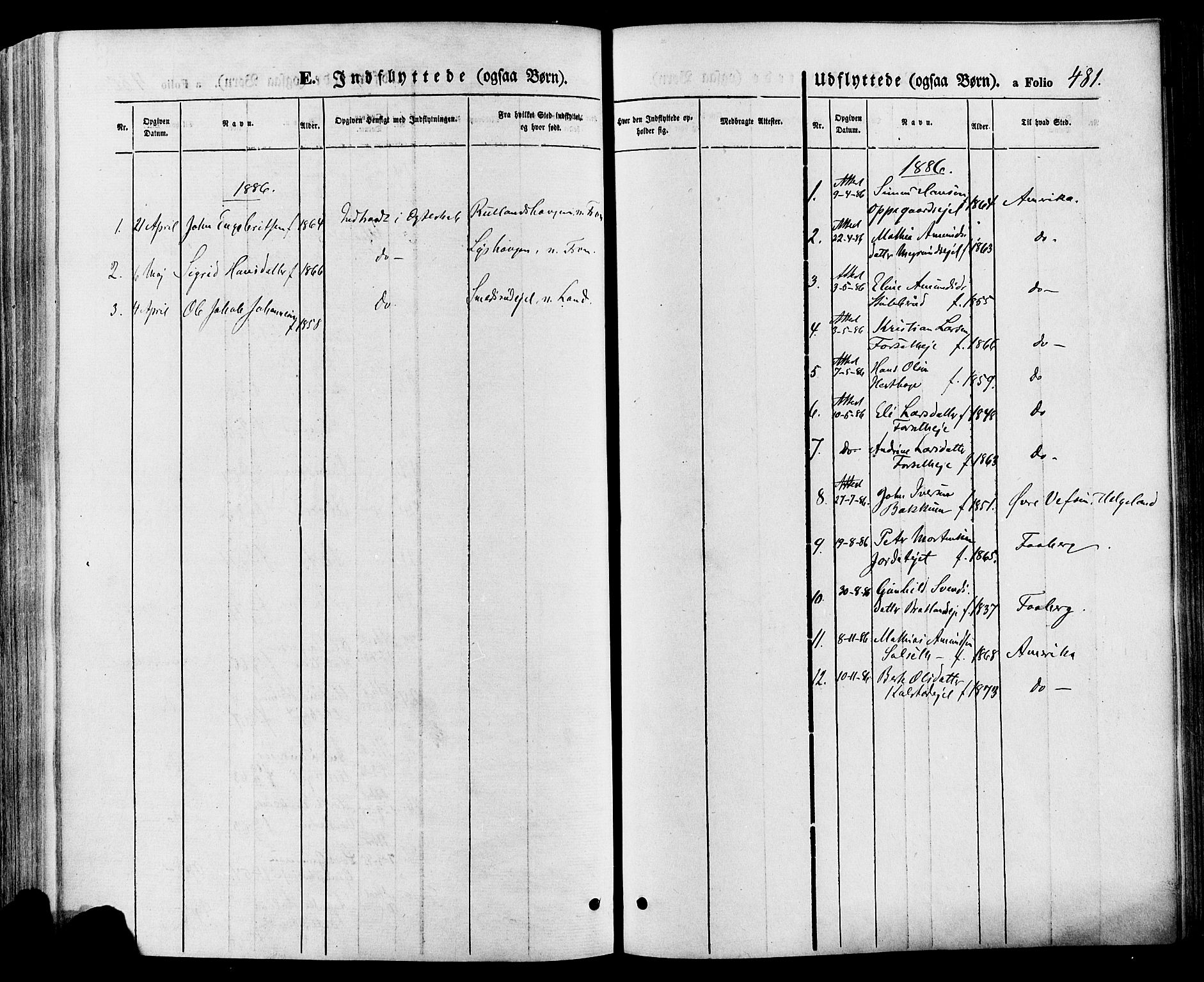 SAH, Gausdal prestekontor, Ministerialbok nr. 10, 1867-1886, s. 481