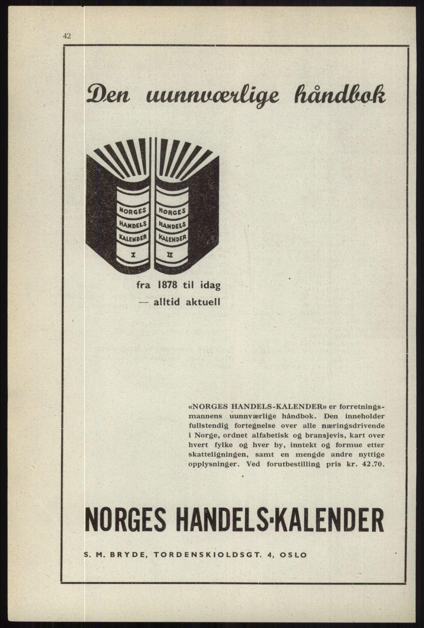 RA, Oslo adressebok (publikasjon)*, 1944, s. 42