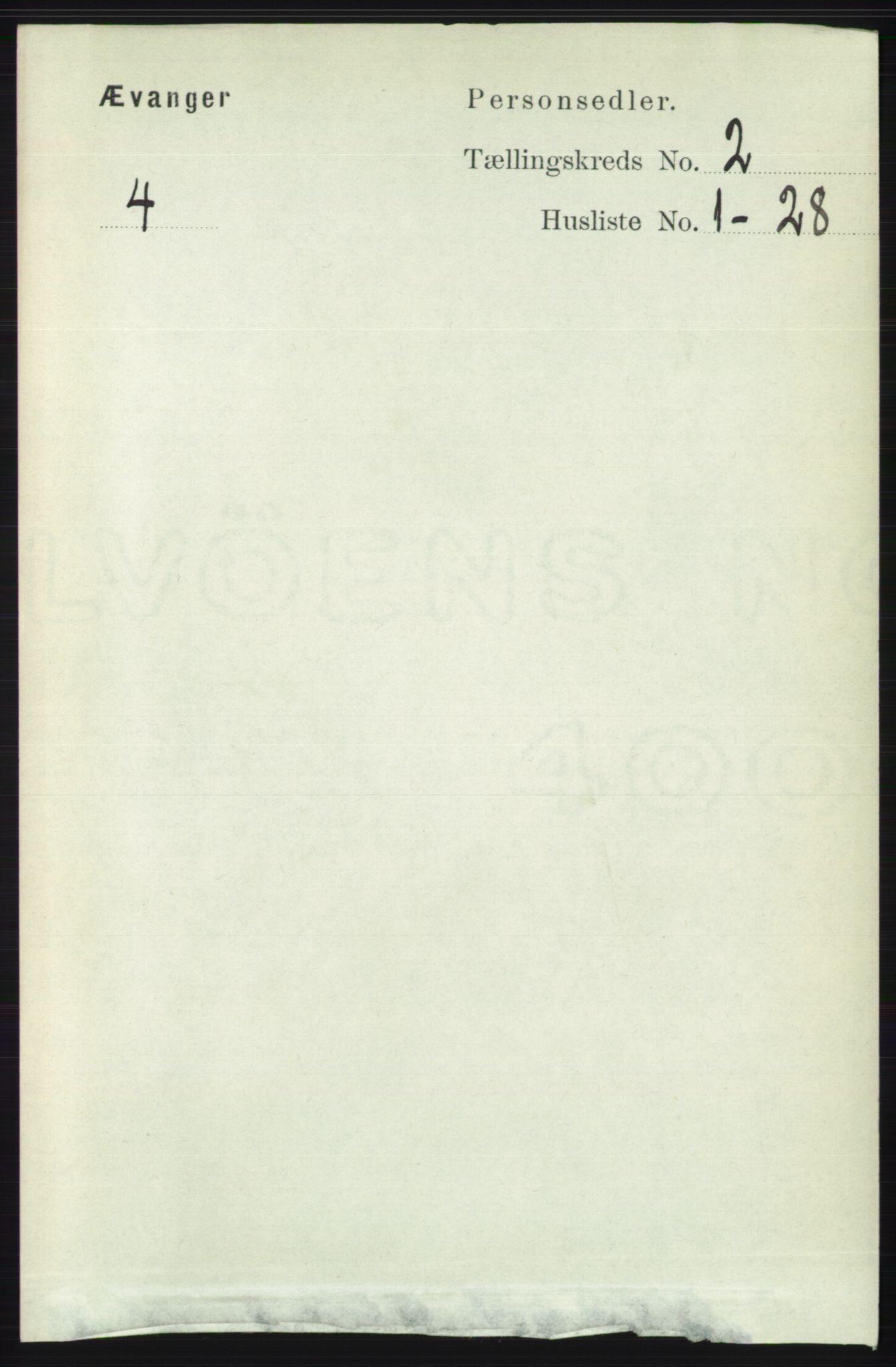 RA, Folketelling 1891 for 1237 Evanger herred, 1891, s. 330
