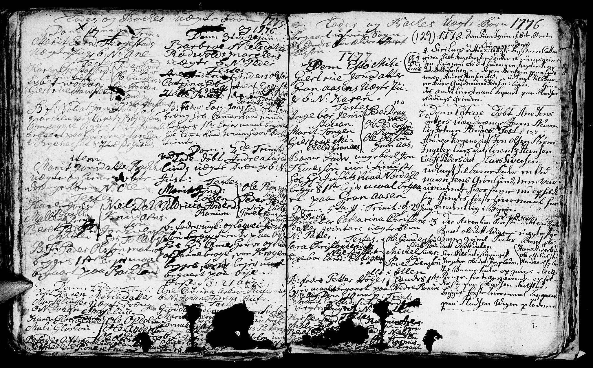 SAT, Ministerialprotokoller, klokkerbøker og fødselsregistre - Sør-Trøndelag, 606/L0305: Klokkerbok nr. 606C01, 1757-1819, s. 129