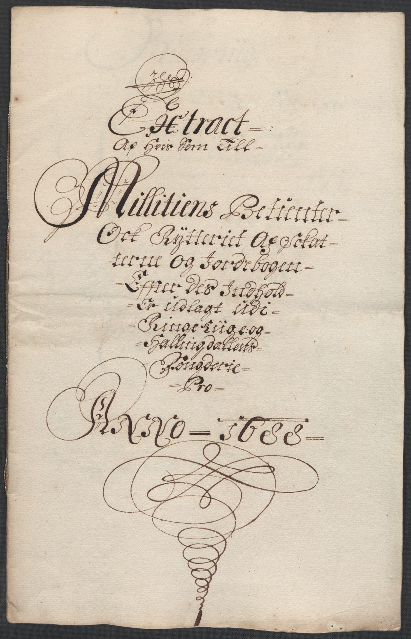 RA, Rentekammeret inntil 1814, Reviderte regnskaper, Fogderegnskap, R21/L1447: Fogderegnskap Ringerike og Hallingdal, 1687-1689, s. 243