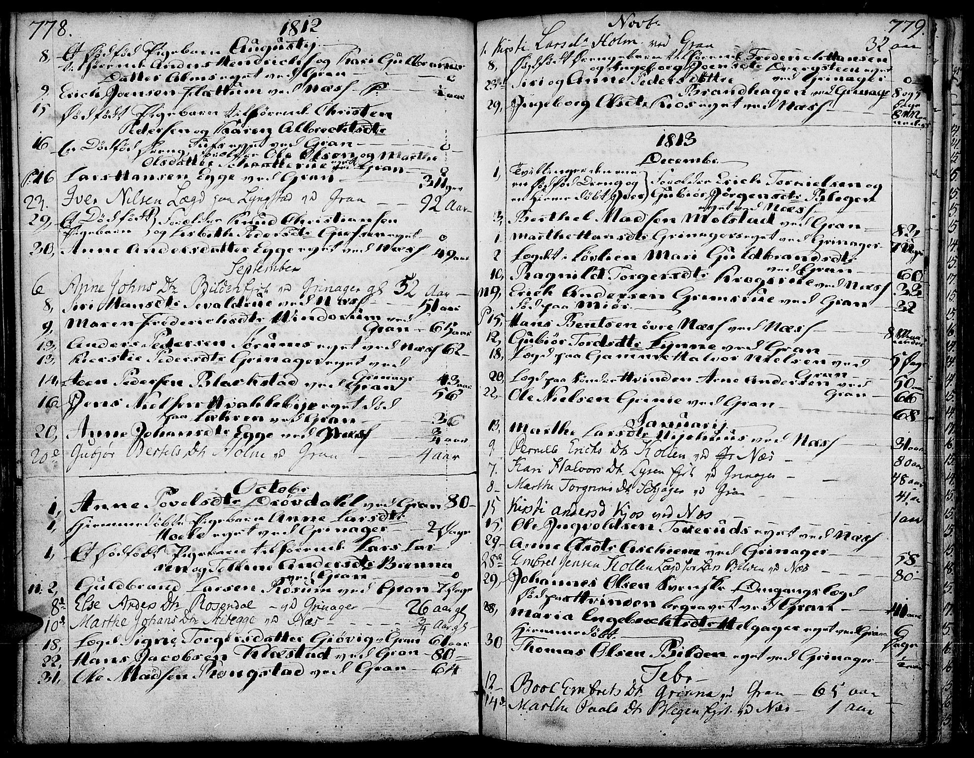 SAH, Gran prestekontor, Ministerialbok nr. 6, 1787-1824, s. 778-779
