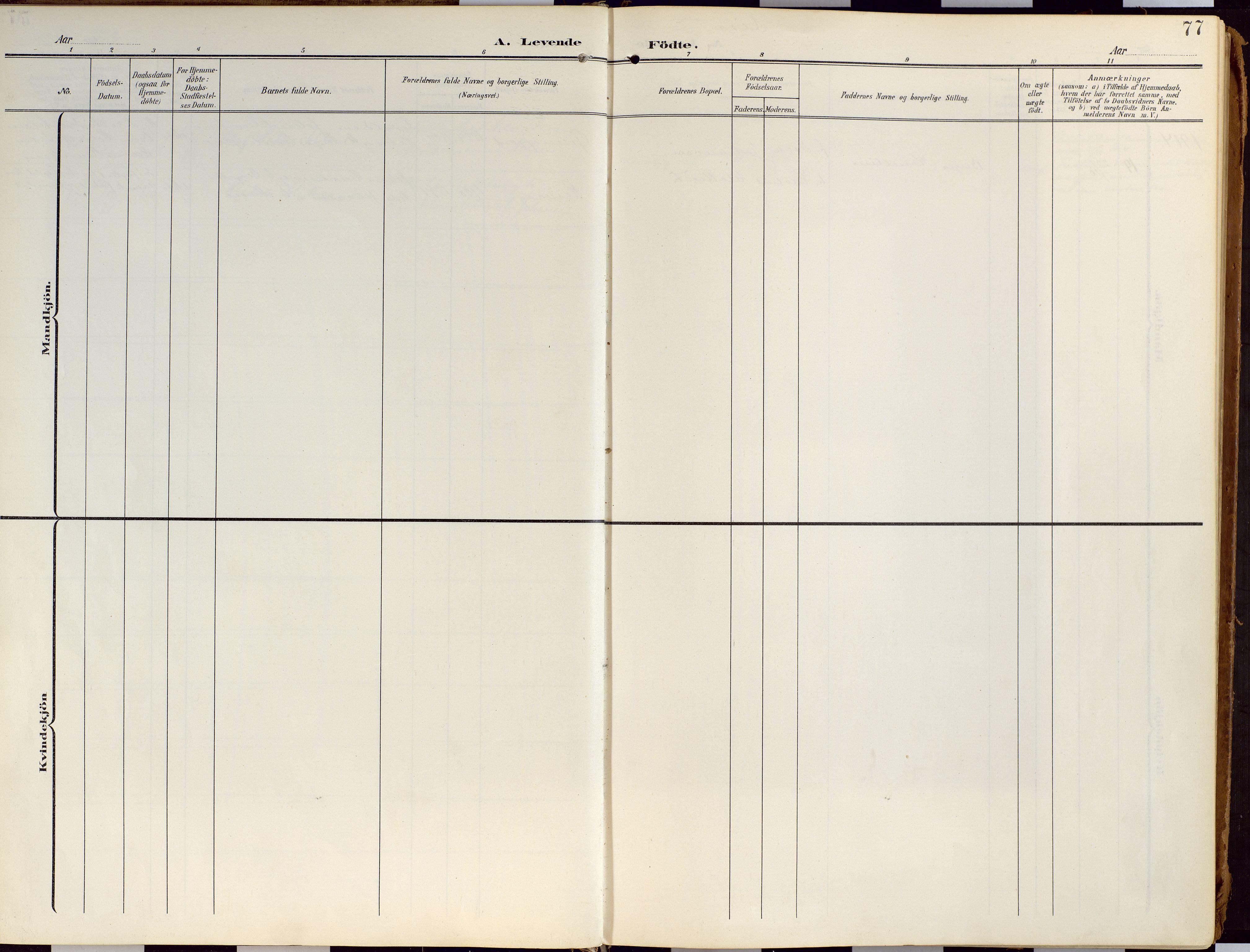 SATØ, Loppa sokneprestkontor, H/Ha/L0010kirke: Ministerialbok nr. 10, 1907-1922, s. 77