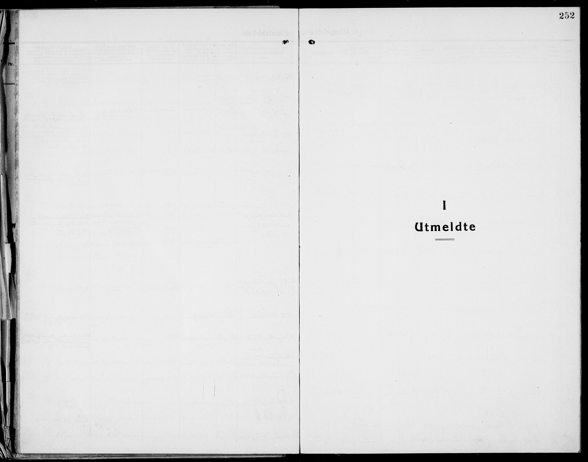 SAKO, Bamble kirkebøker, G/Ga/L0011: Klokkerbok nr. I 11, 1920-1935, s. 252