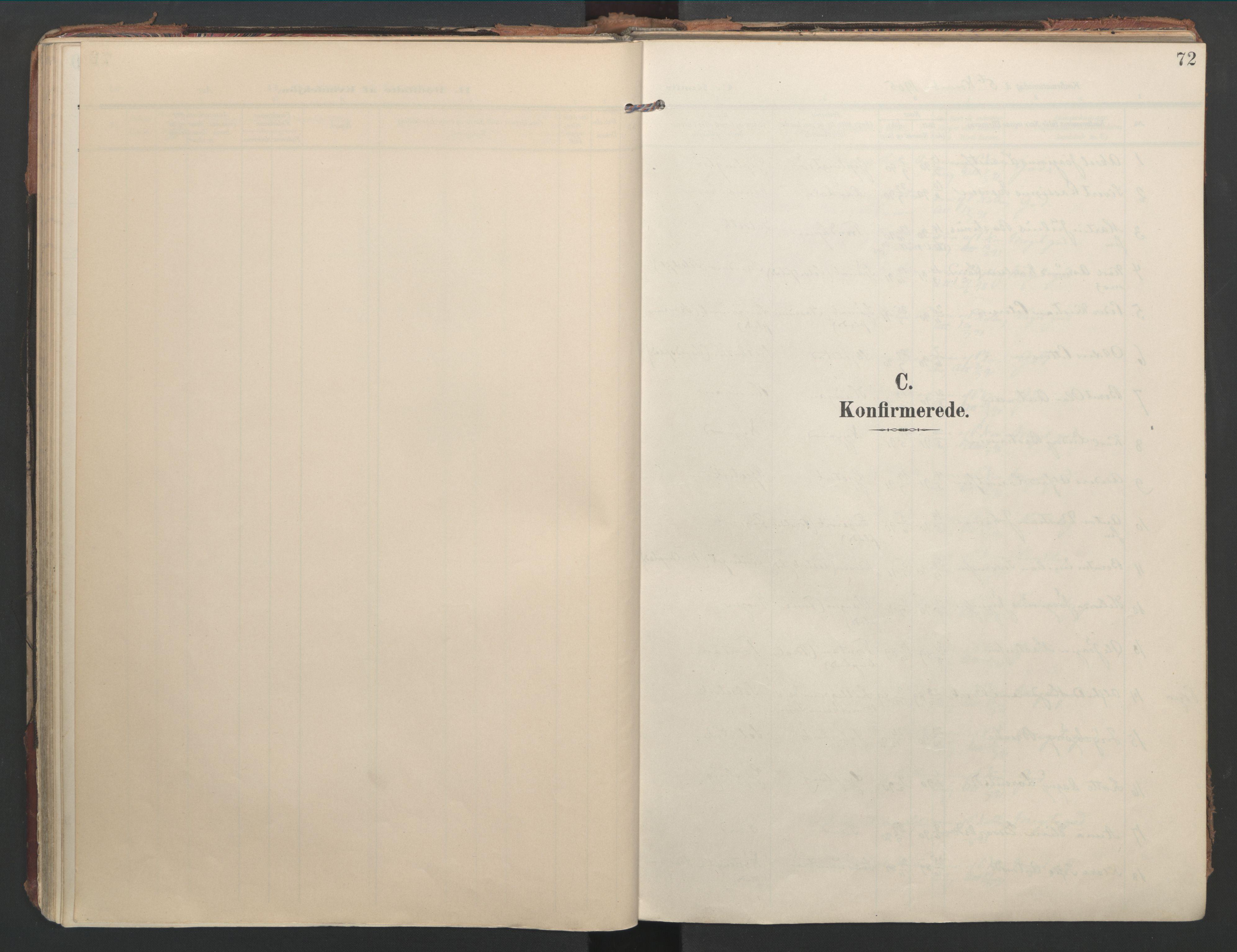 SAT, Ministerialprotokoller, klokkerbøker og fødselsregistre - Nord-Trøndelag, 744/L0421: Ministerialbok nr. 744A05, 1905-1930, s. 72