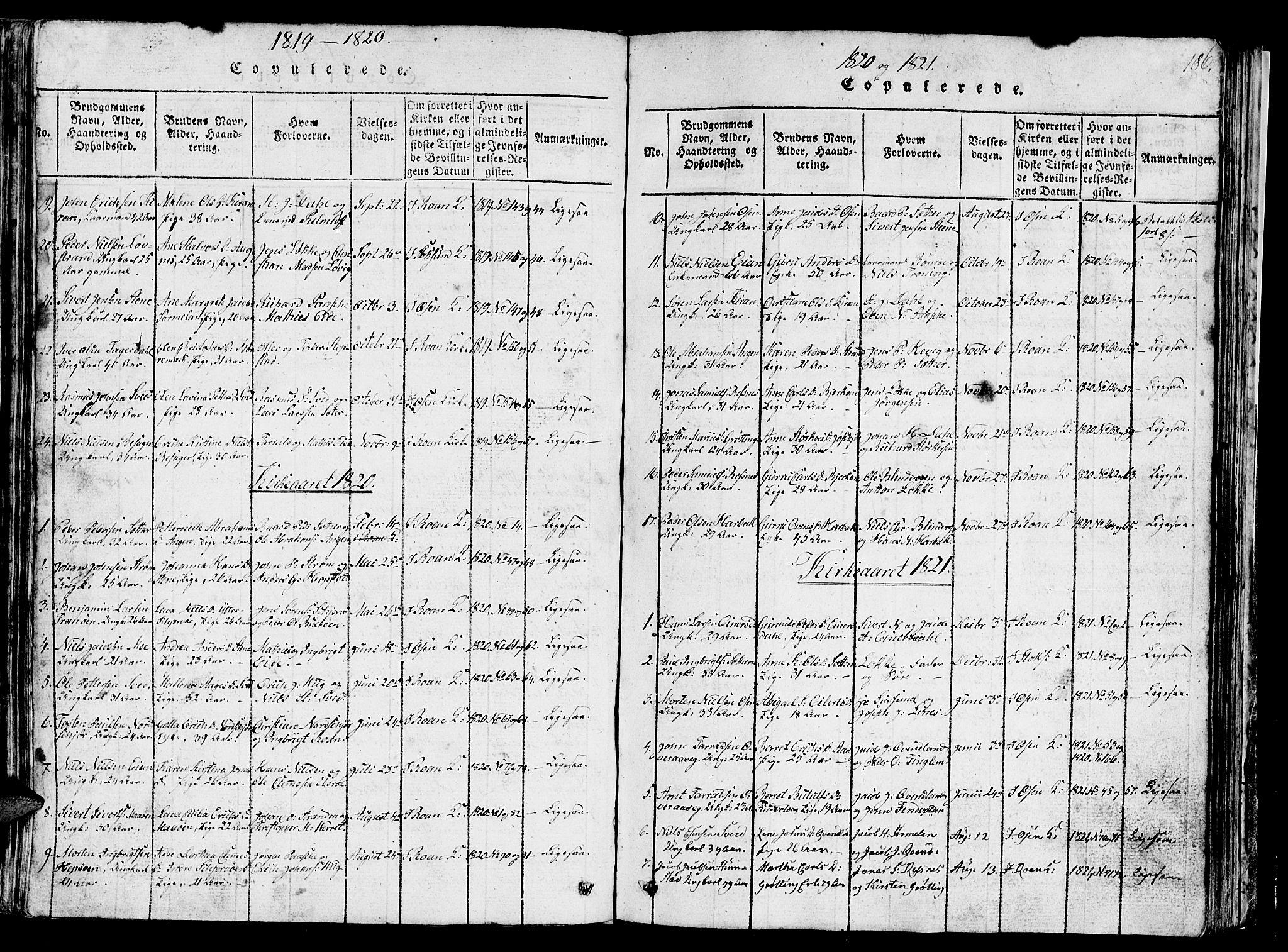 SAT, Ministerialprotokoller, klokkerbøker og fødselsregistre - Sør-Trøndelag, 657/L0714: Klokkerbok nr. 657C01, 1818-1868, s. 186