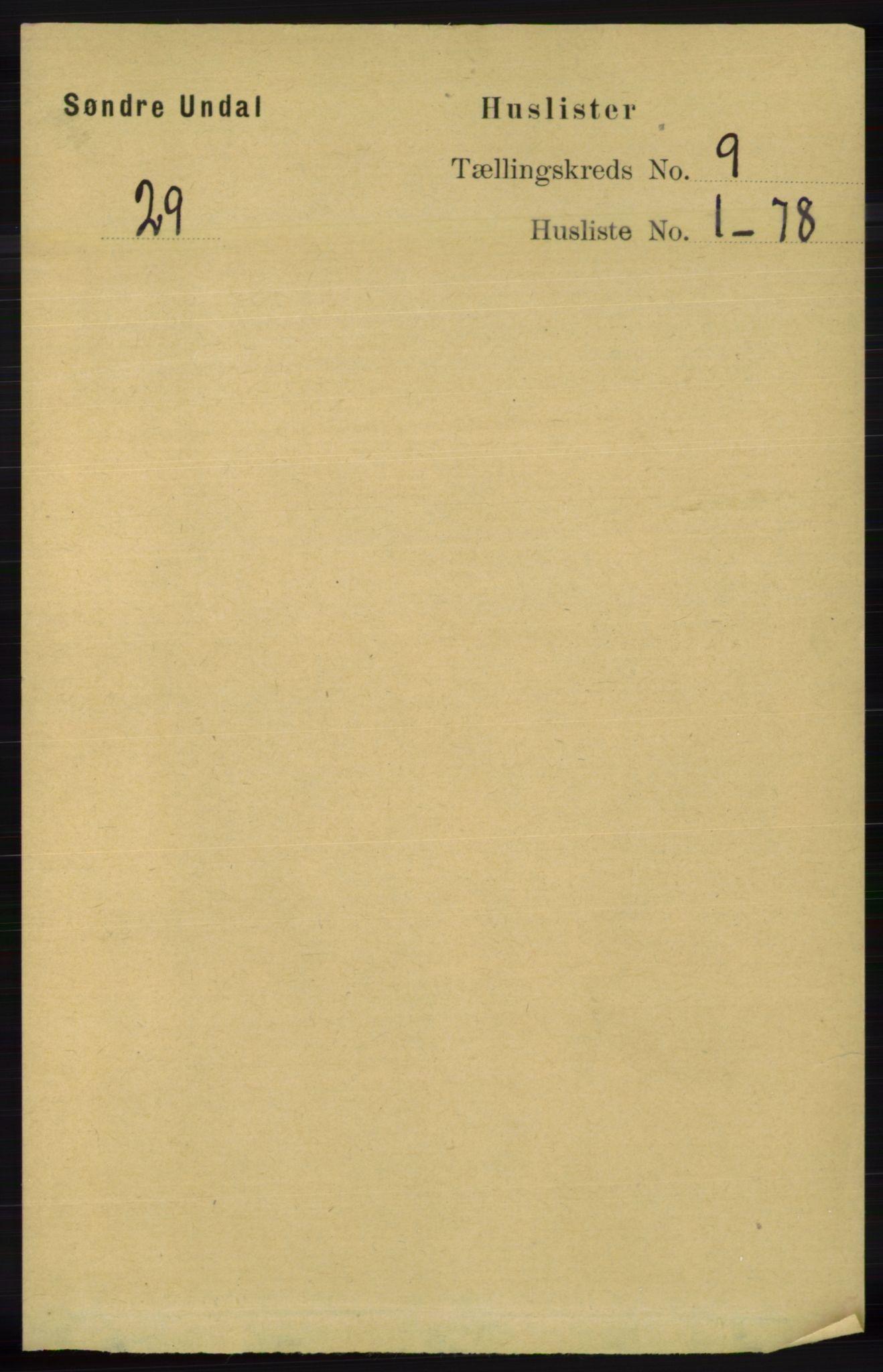 RA, Folketelling 1891 for 1029 Sør-Audnedal herred, 1891, s. 3832
