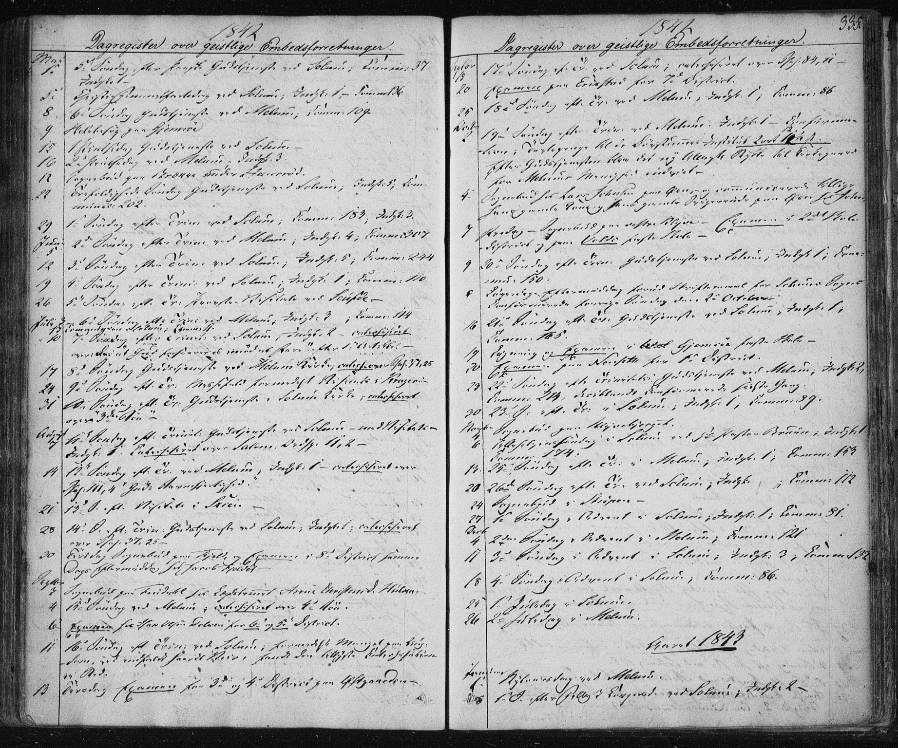 SAKO, Solum kirkebøker, F/Fa/L0005: Ministerialbok nr. I 5, 1833-1843, s. 335