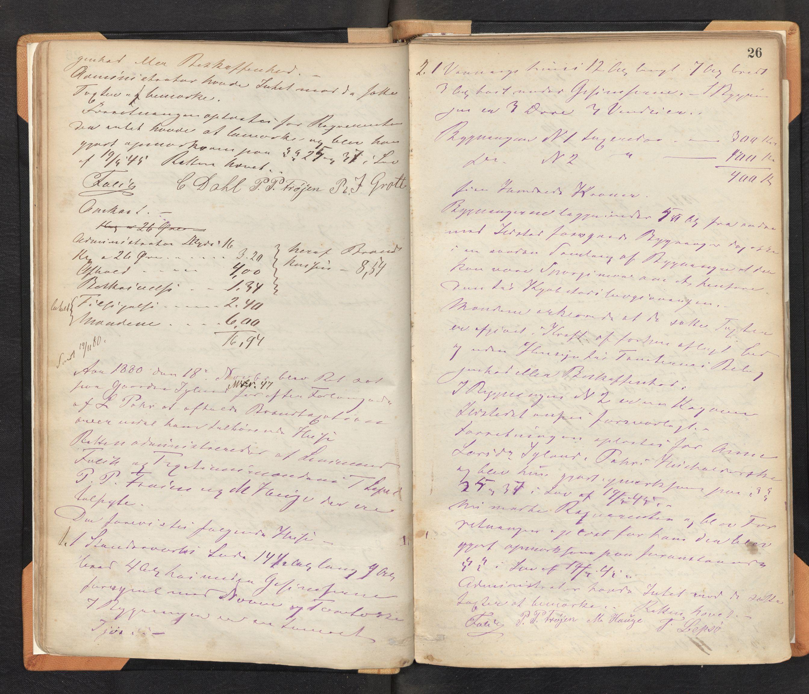 SAB, Lensmannen i Bremanger, 0012/L0002: Branntakstprotokoll, 1879-1947, s. 25b-26a