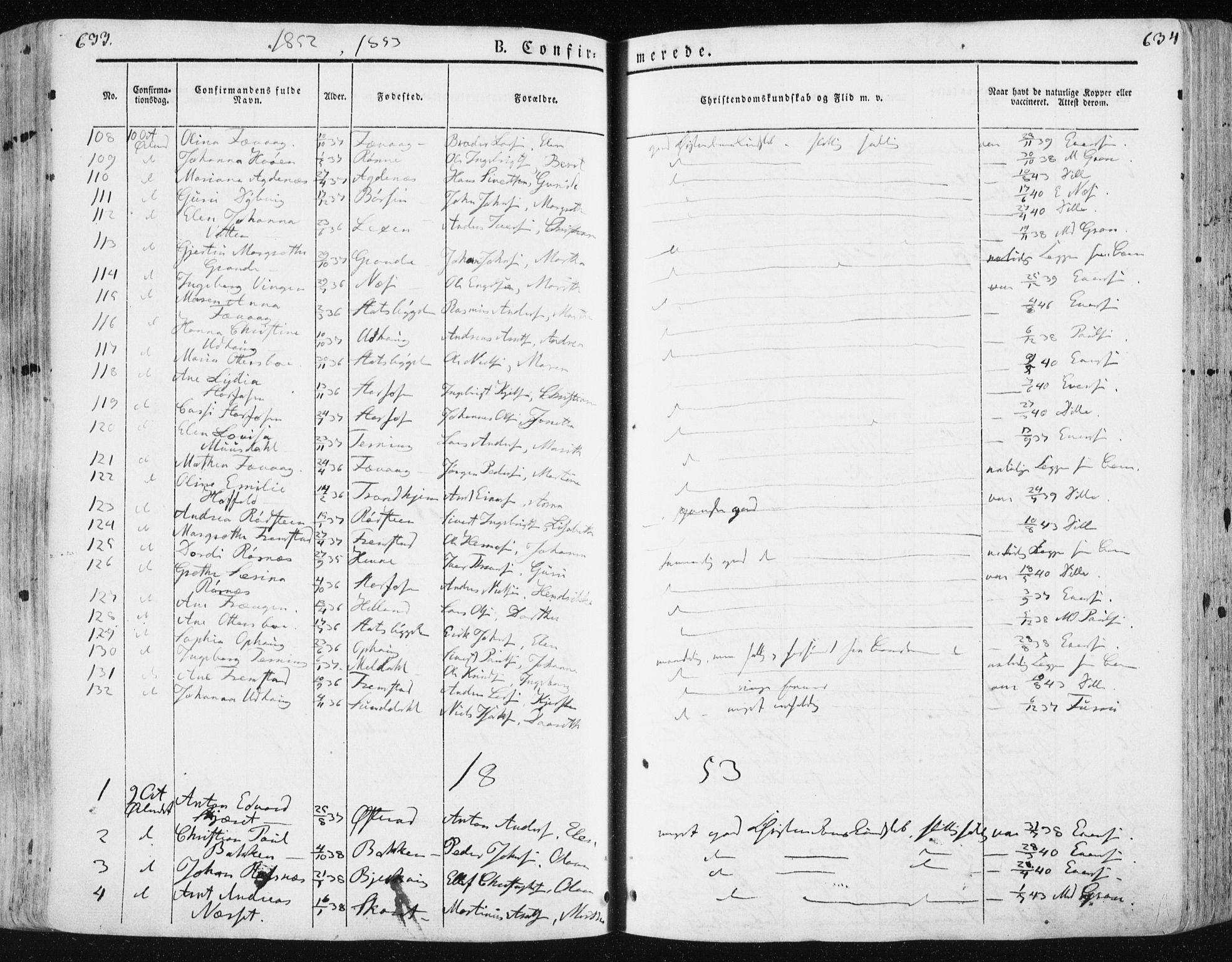 SAT, Ministerialprotokoller, klokkerbøker og fødselsregistre - Sør-Trøndelag, 659/L0736: Ministerialbok nr. 659A06, 1842-1856, s. 633-634