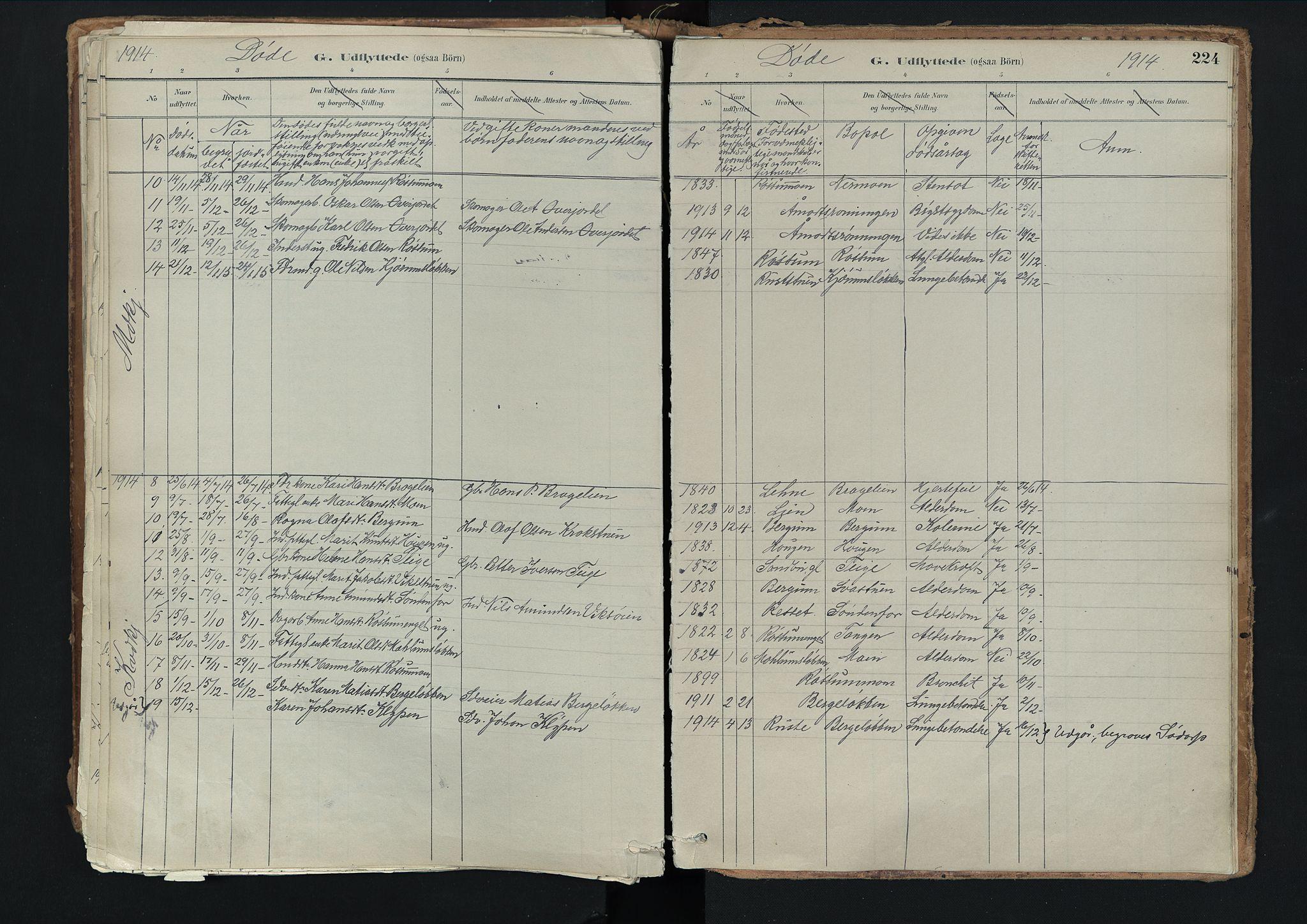 SAH, Nord-Fron prestekontor, Ministerialbok nr. 3, 1884-1914, s. 224