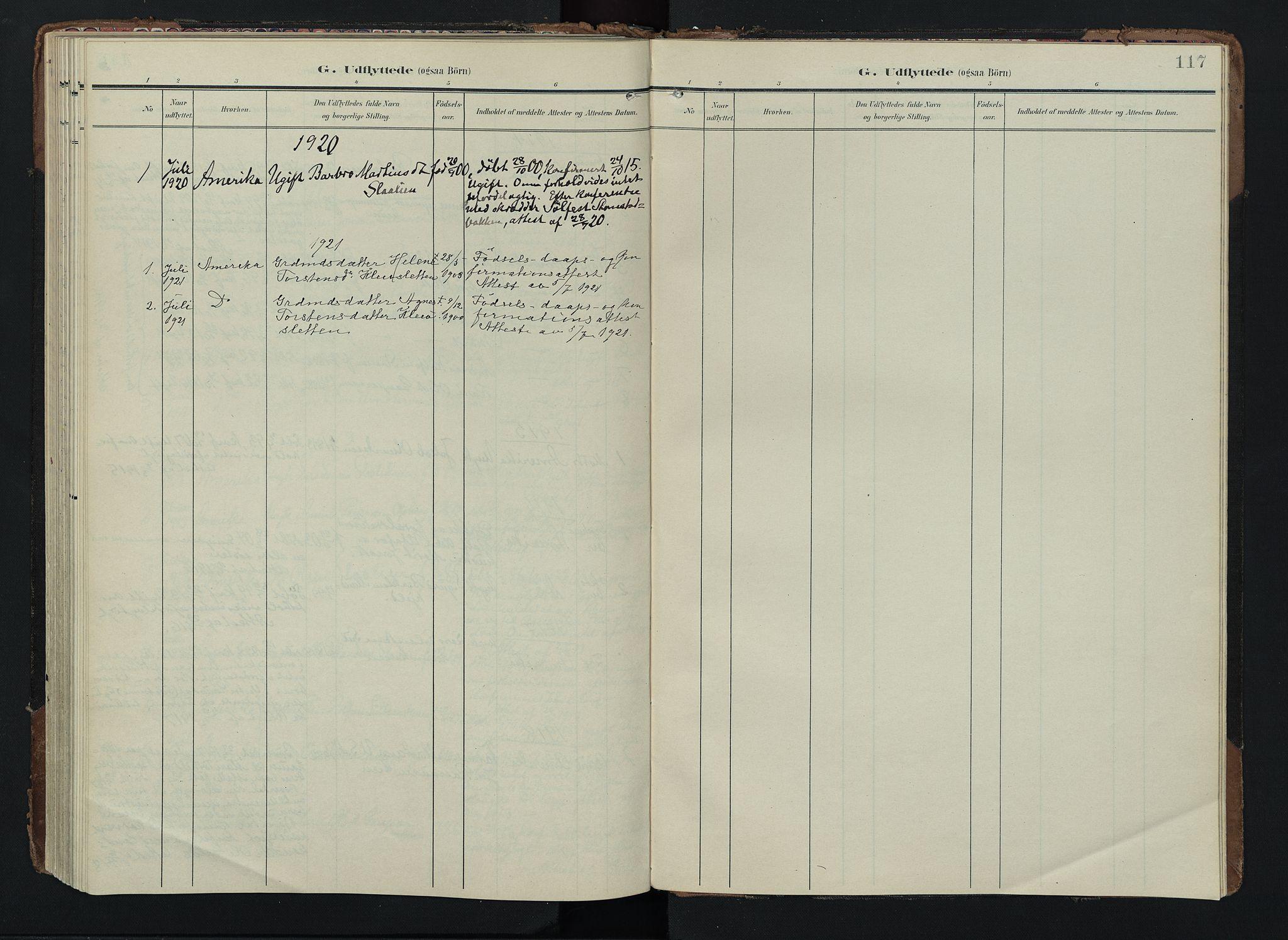 SAH, Lom prestekontor, K/L0012: Ministerialbok nr. 12, 1904-1928, s. 117