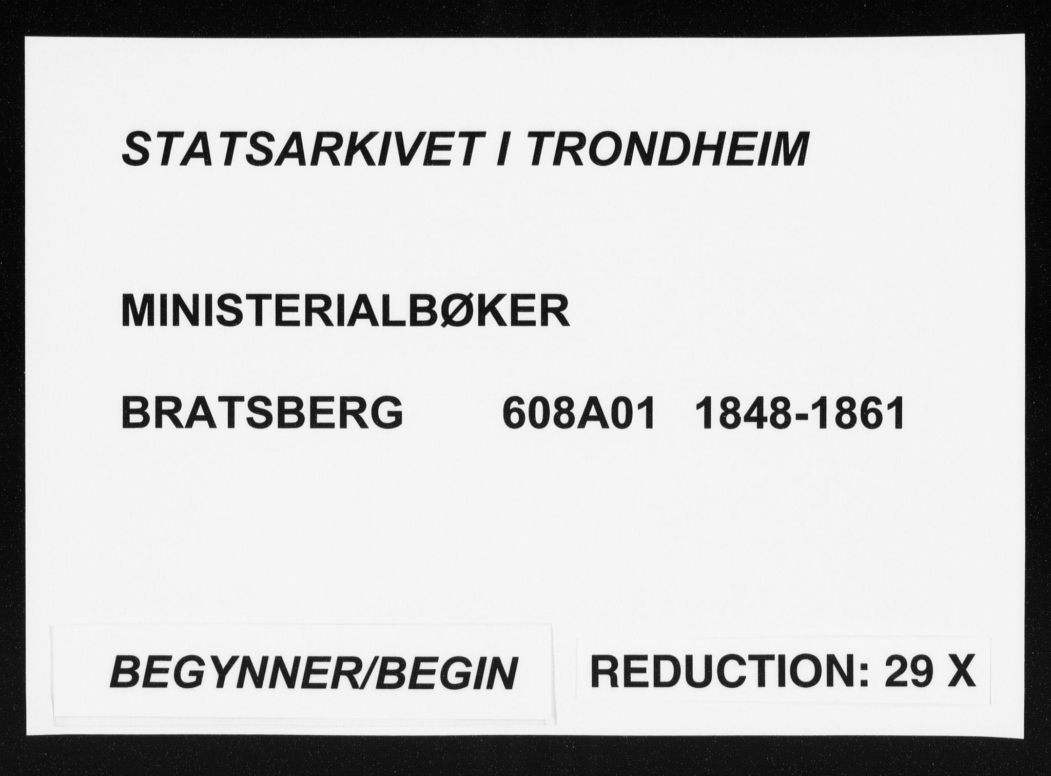 SAT, Ministerialprotokoller, klokkerbøker og fødselsregistre - Sør-Trøndelag, 608/L0332: Ministerialbok nr. 608A01, 1848-1861