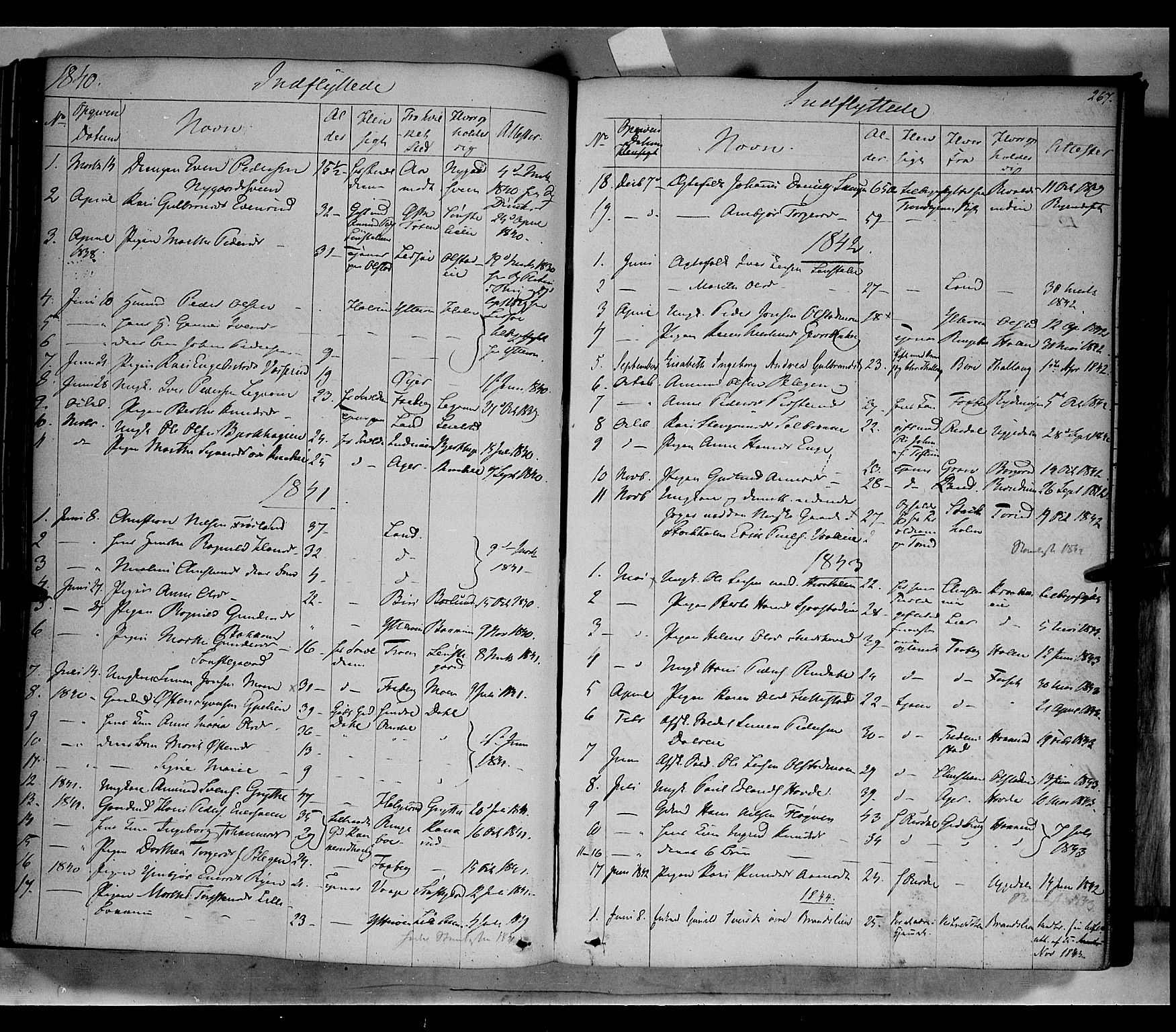 SAH, Gausdal prestekontor, Ministerialbok nr. 7, 1840-1850, s. 267