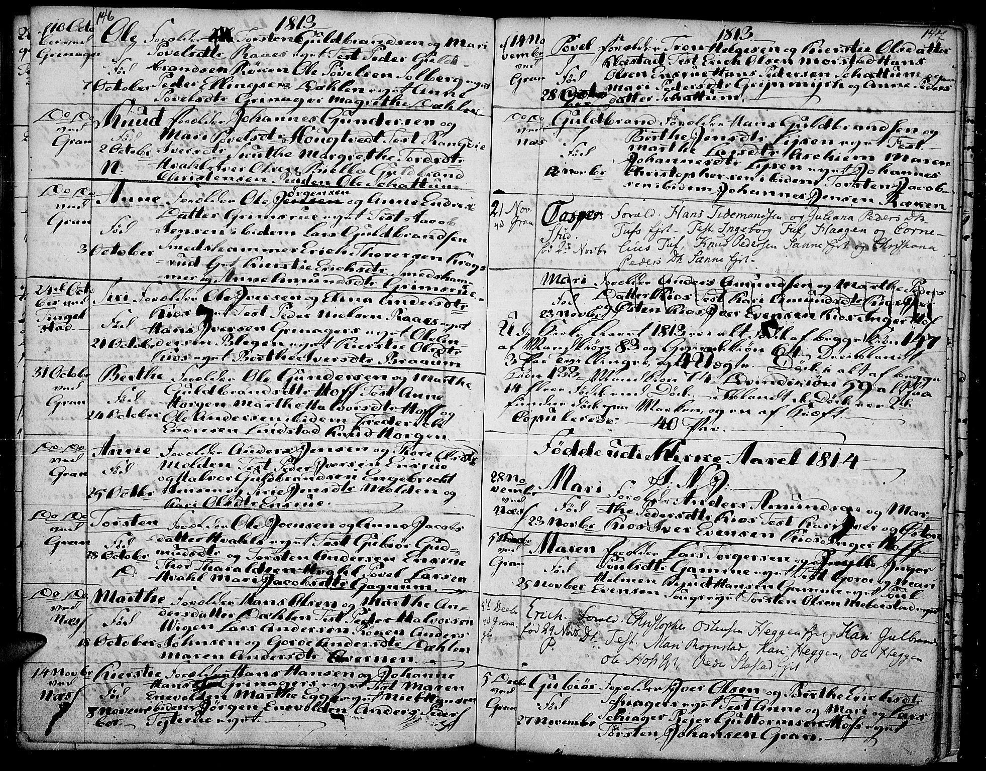 SAH, Gran prestekontor, Ministerialbok nr. 7, 1804-1815, s. 146-147