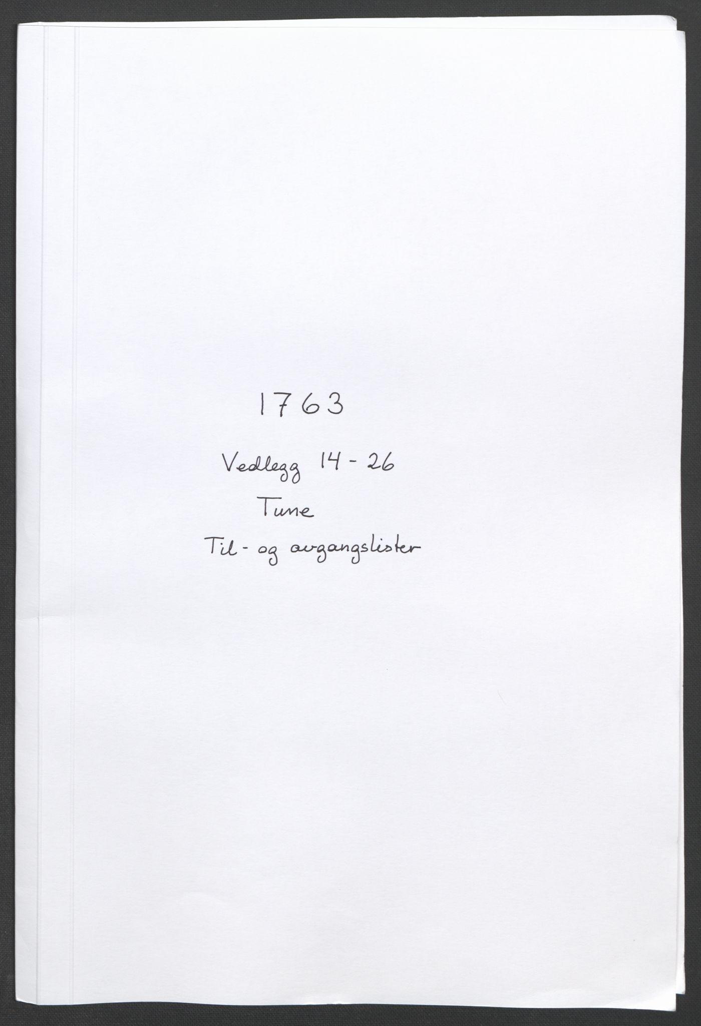 RA, Rentekammeret inntil 1814, Reviderte regnskaper, Fogderegnskap, R04/L0261: Ekstraskatten Moss, Onsøy, Tune, Veme og Åbygge, 1763, s. 57