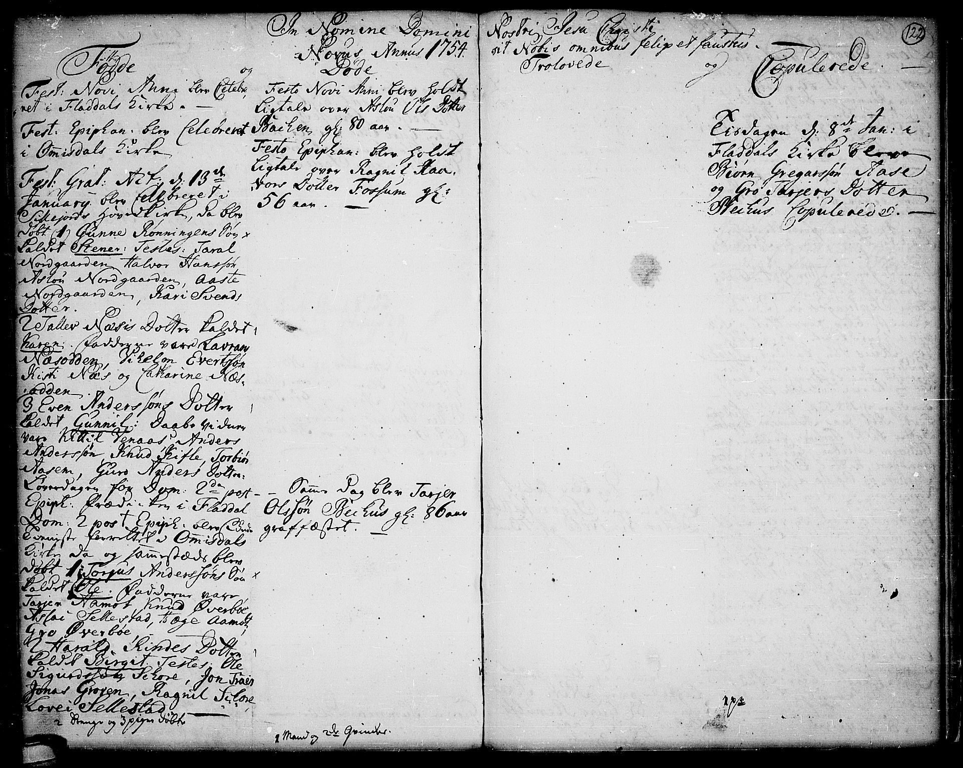 SAKO, Seljord kirkebøker, F/Fa/L0006: Ministerialbok nr. I 6, 1744-1755, s. 122