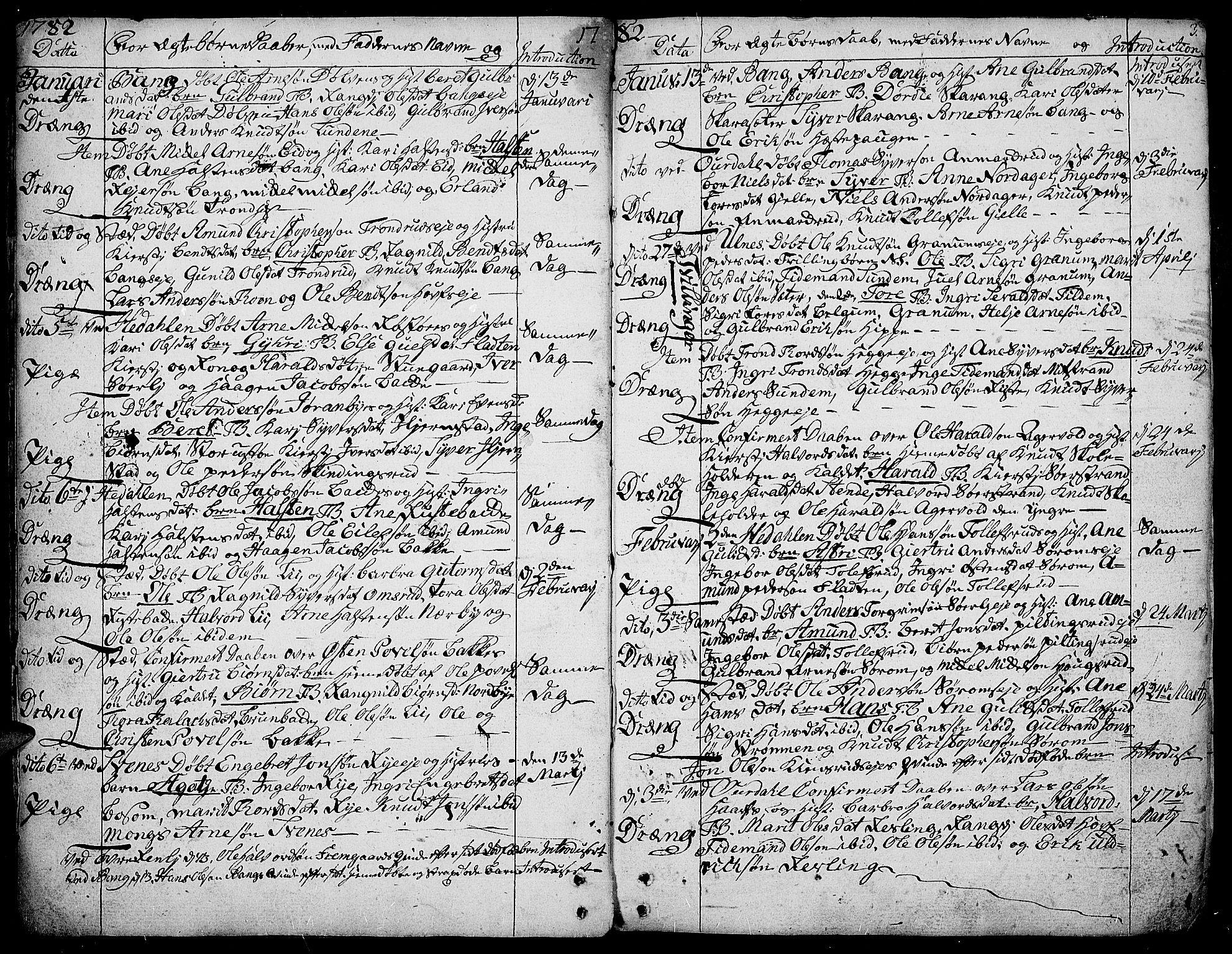 SAH, Aurdal prestekontor, Ministerialbok nr. 6, 1781-1804, s. 3