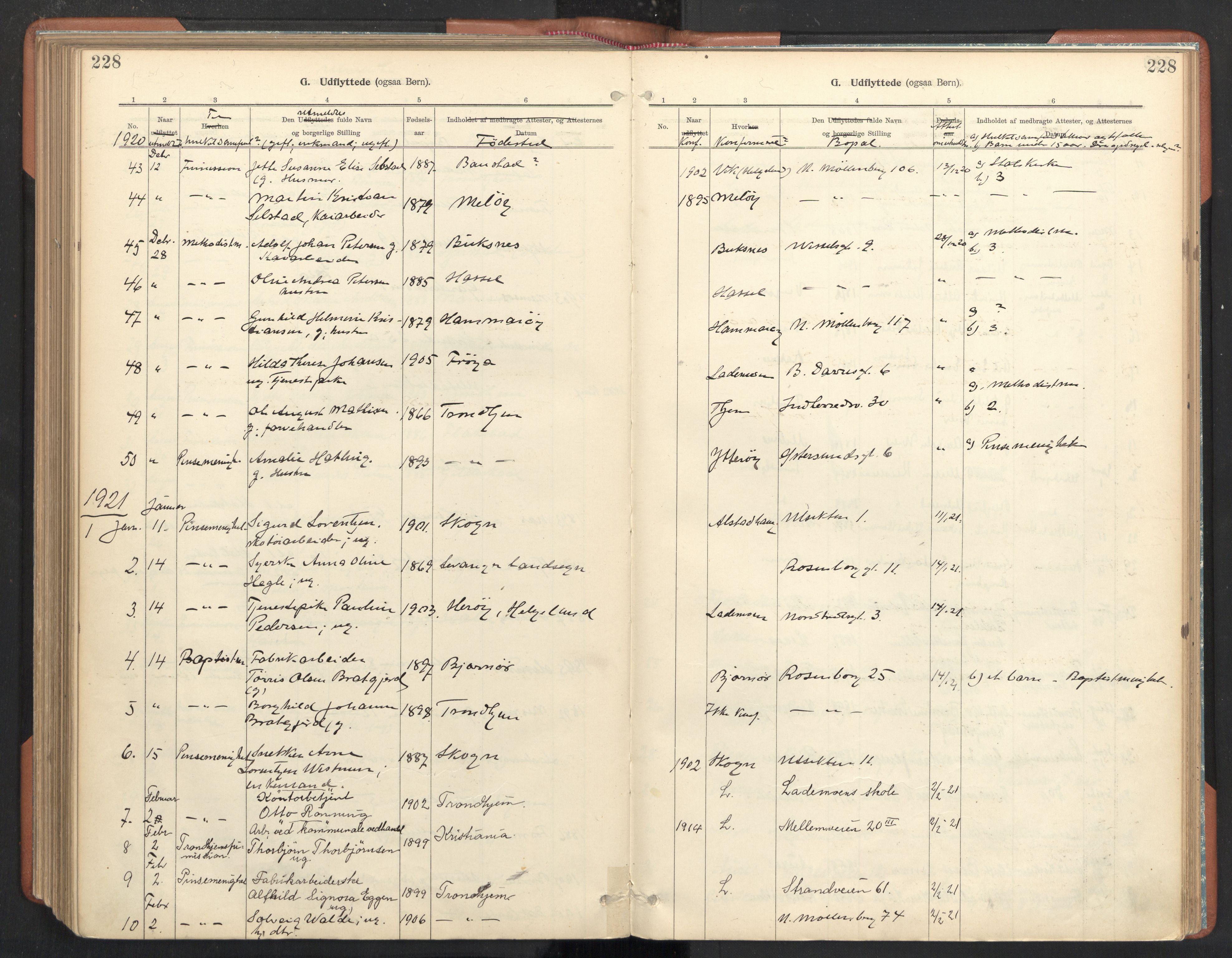 SAT, Ministerialprotokoller, klokkerbøker og fødselsregistre - Sør-Trøndelag, 605/L0244: Ministerialbok nr. 605A06, 1908-1954, s. 228