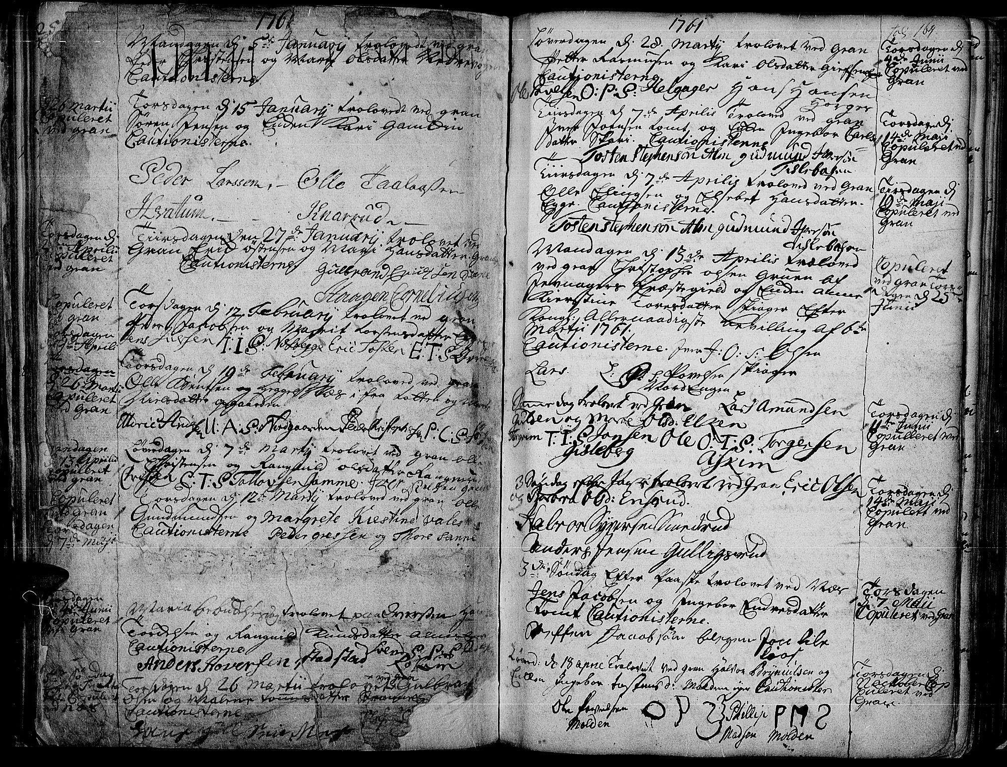 SAH, Gran prestekontor, Ministerialbok nr. 4, 1759-1775, s. 164