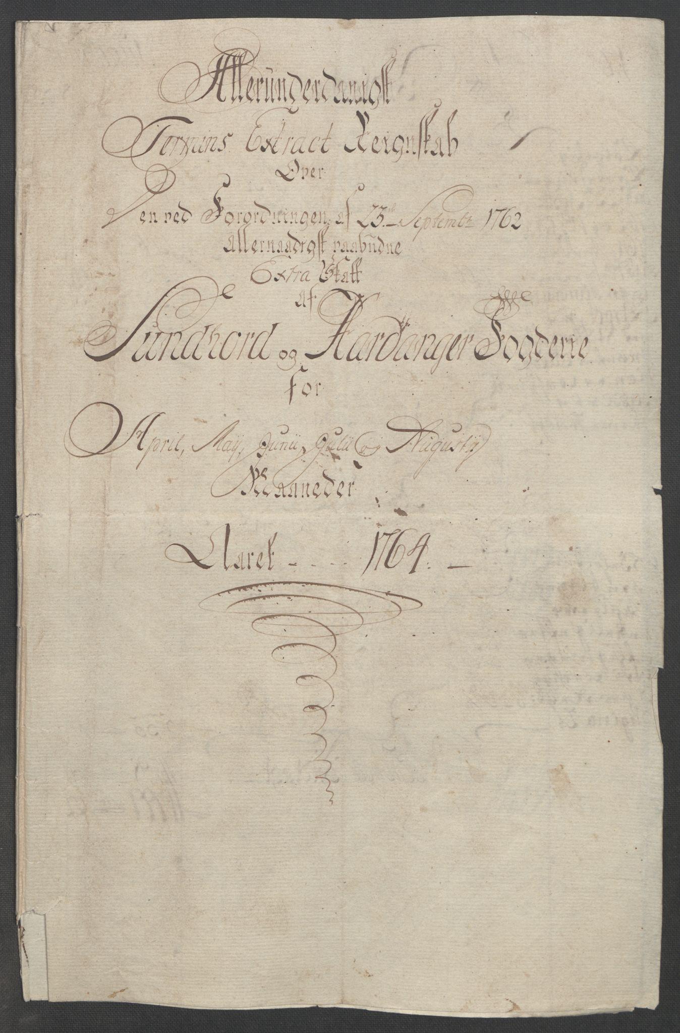 RA, Rentekammeret inntil 1814, Reviderte regnskaper, Fogderegnskap, R48/L3136: Ekstraskatten Sunnhordland og Hardanger, 1762-1772, s. 67