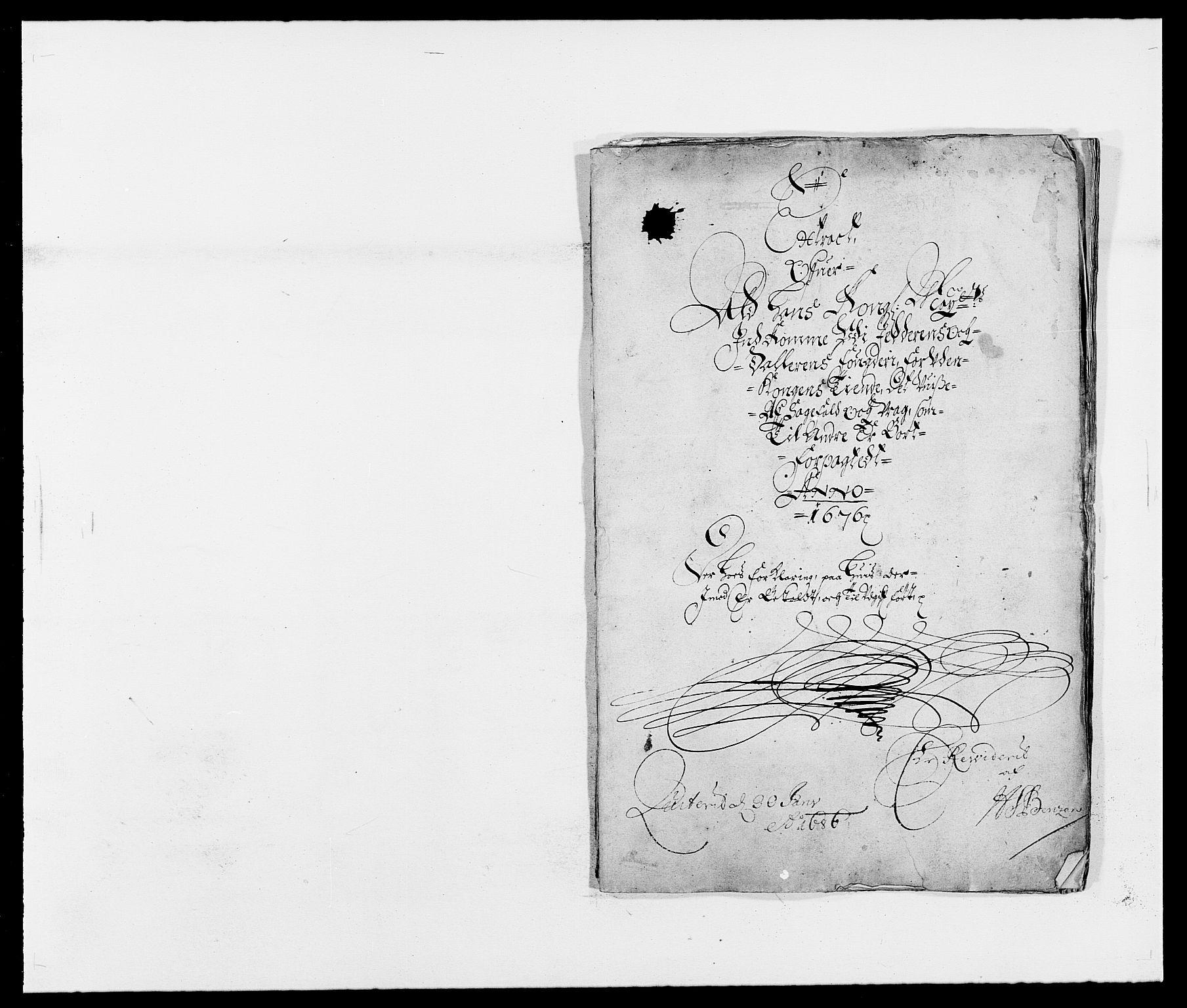 RA, Rentekammeret inntil 1814, Reviderte regnskaper, Fogderegnskap, R46/L2716: Fogderegnskap Jæren og Dalane, 1676, s. 1
