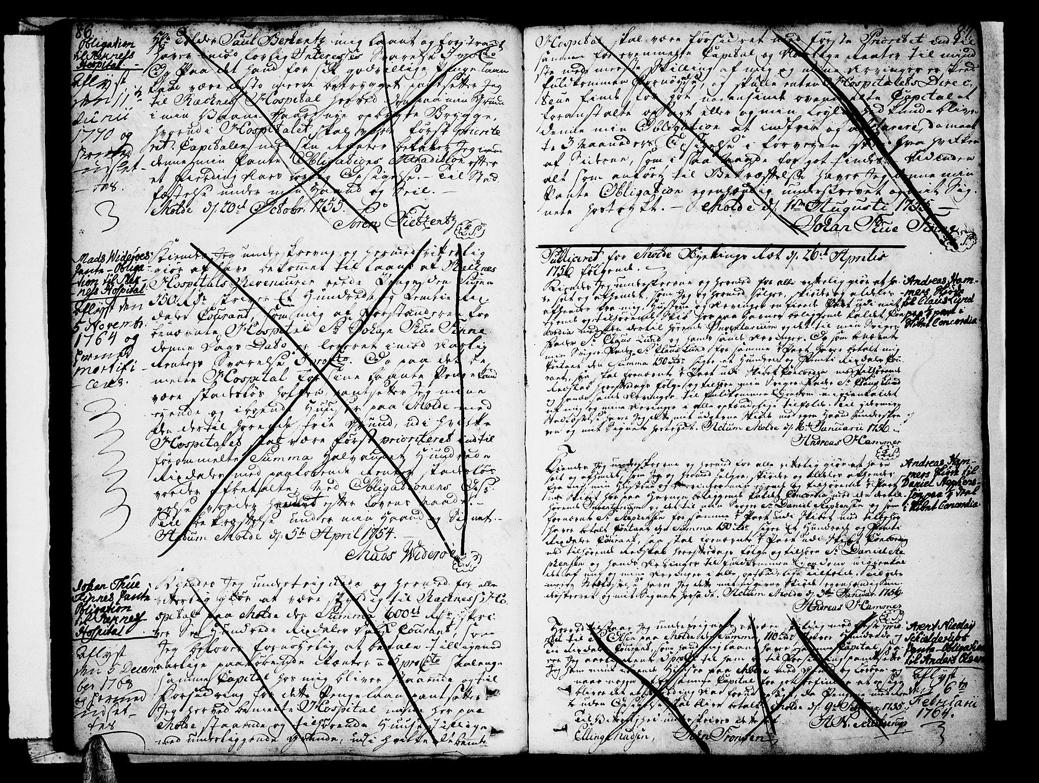 SAT, Molde byfogd, 2/2C/L0001: Pantebok nr. 1, 1748-1823, s. 86-87