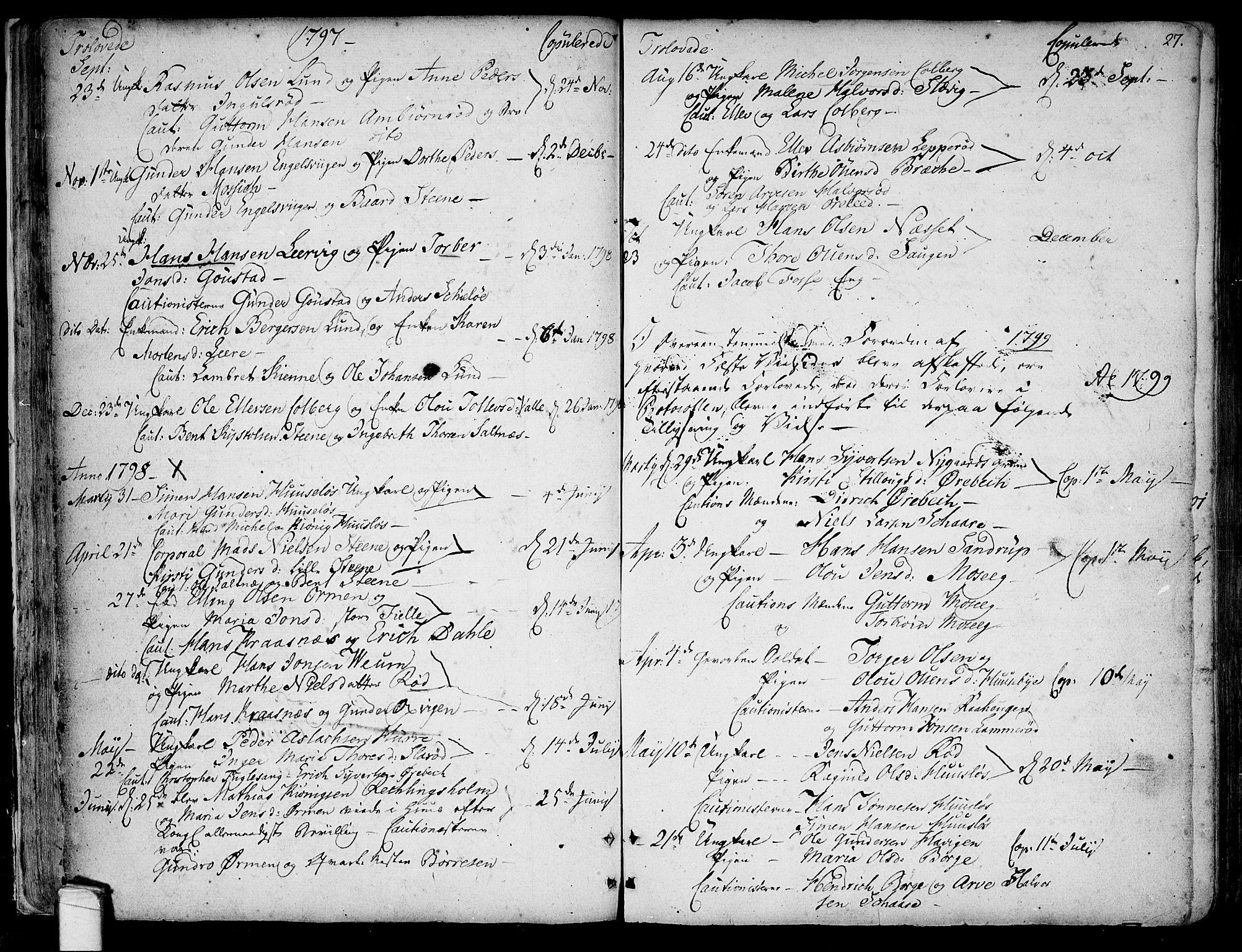 SAO, Onsøy prestekontor Kirkebøker, F/Fa/L0001: Ministerialbok nr. I 1, 1733-1814, s. 27
