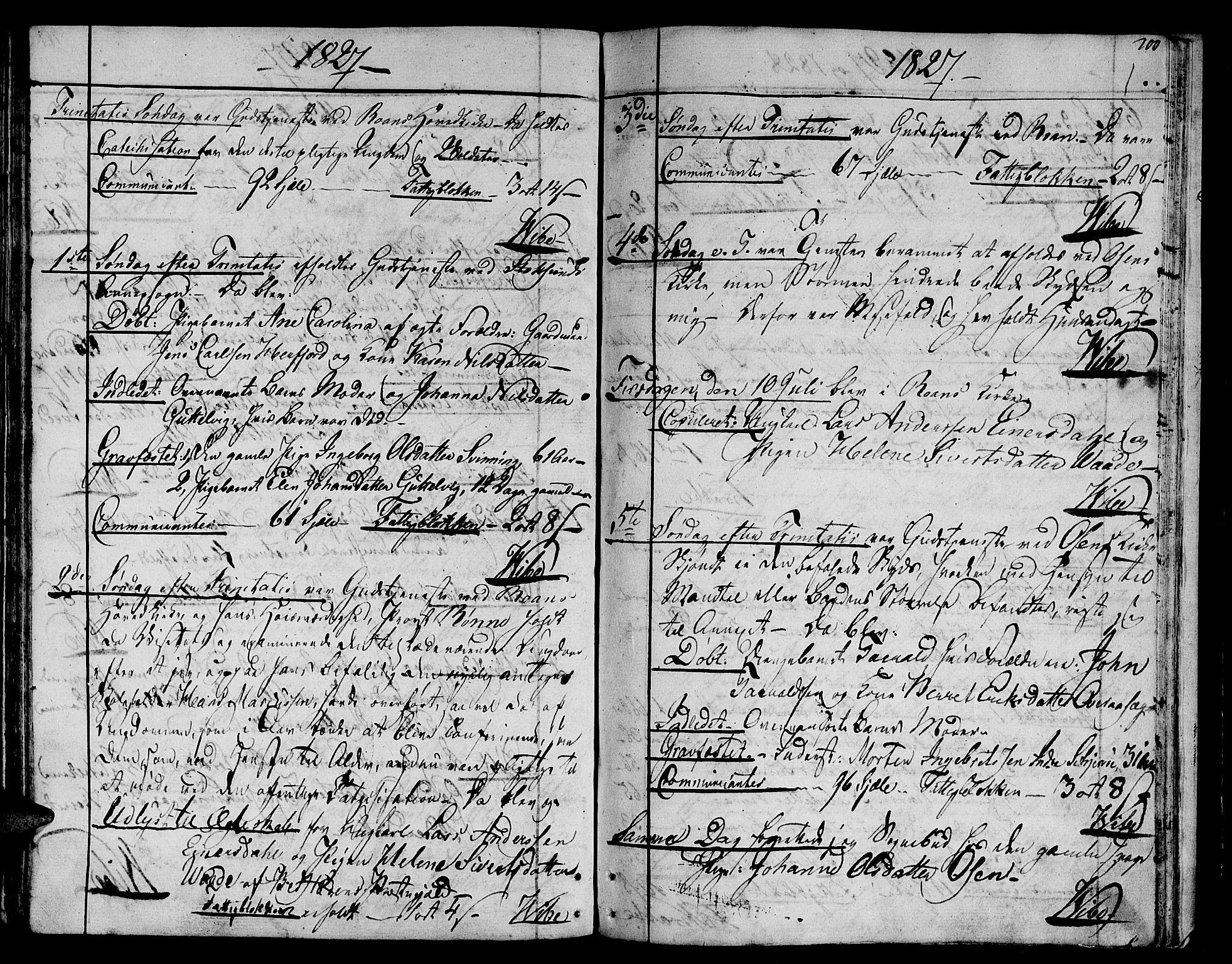 SAT, Ministerialprotokoller, klokkerbøker og fødselsregistre - Sør-Trøndelag, 657/L0701: Ministerialbok nr. 657A02, 1802-1831, s. 200