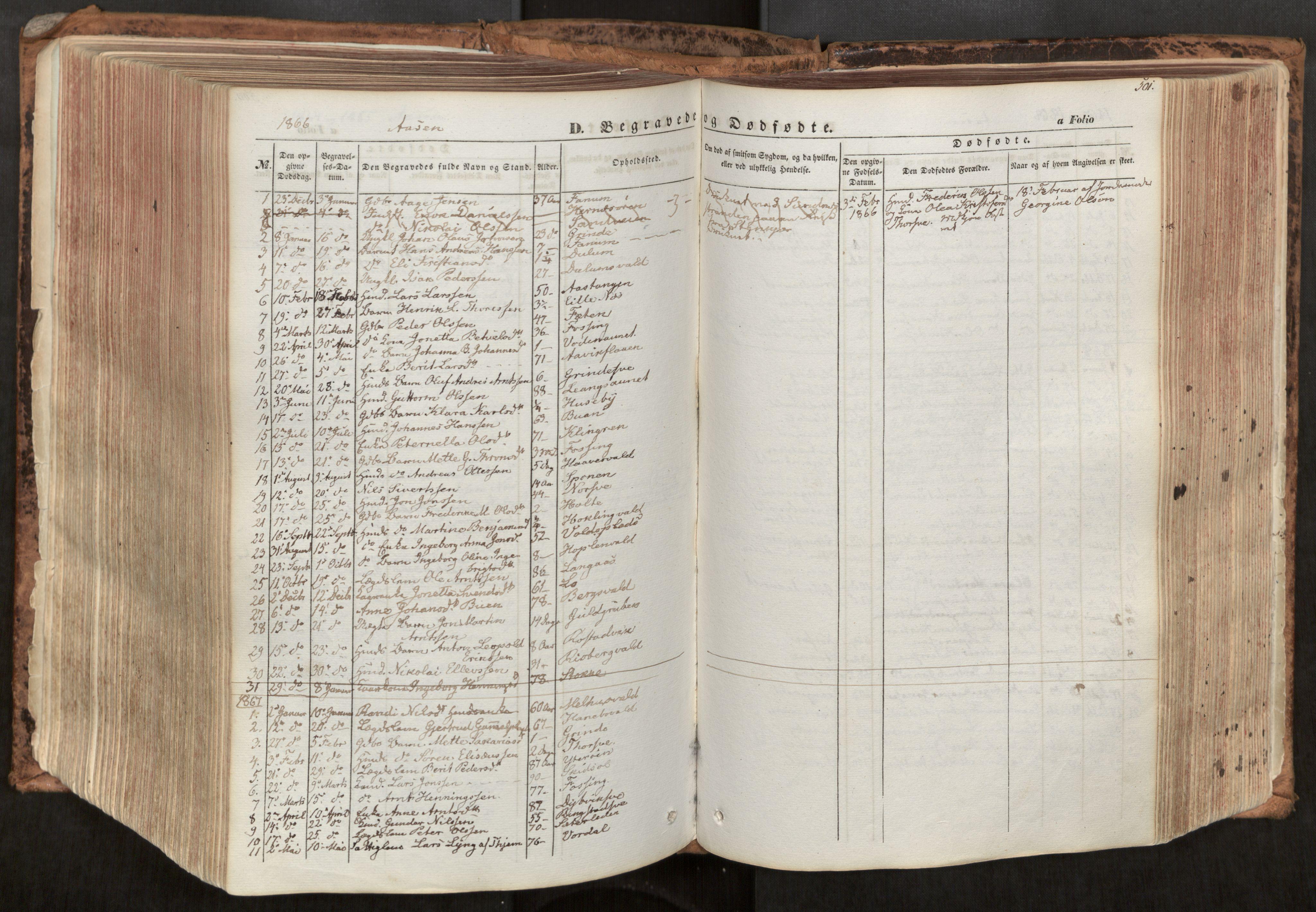SAT, Ministerialprotokoller, klokkerbøker og fødselsregistre - Nord-Trøndelag, 713/L0116: Ministerialbok nr. 713A07, 1850-1877, s. 501