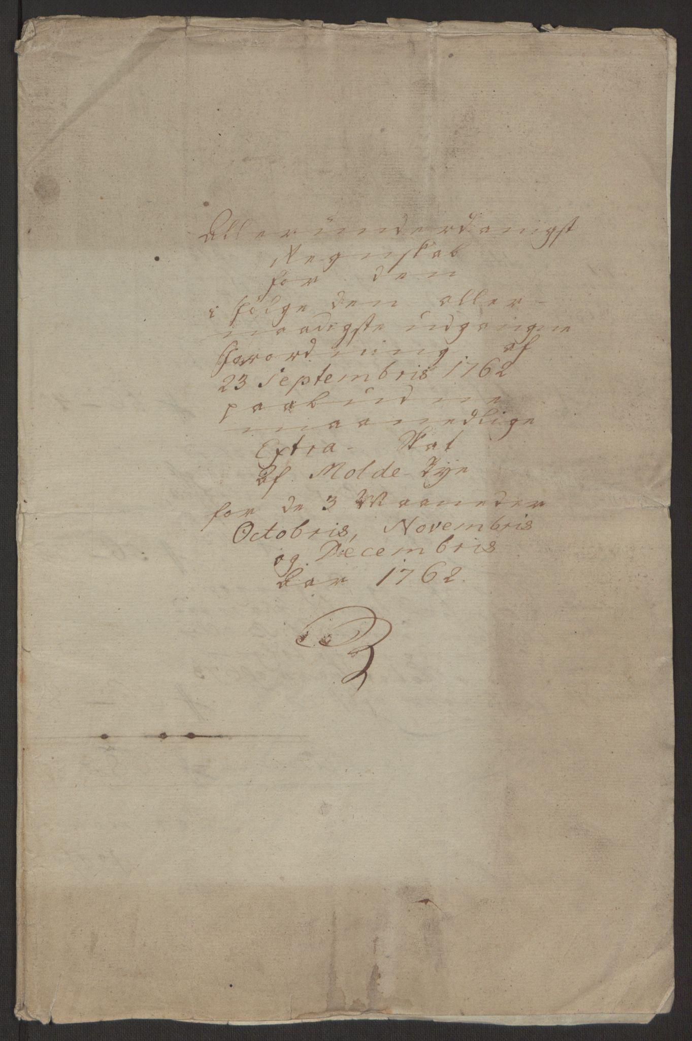 RA, Rentekammeret inntil 1814, Reviderte regnskaper, Byregnskaper, R/Rq/L0487: [Q1] Kontribusjonsregnskap, 1762-1772, s. 4