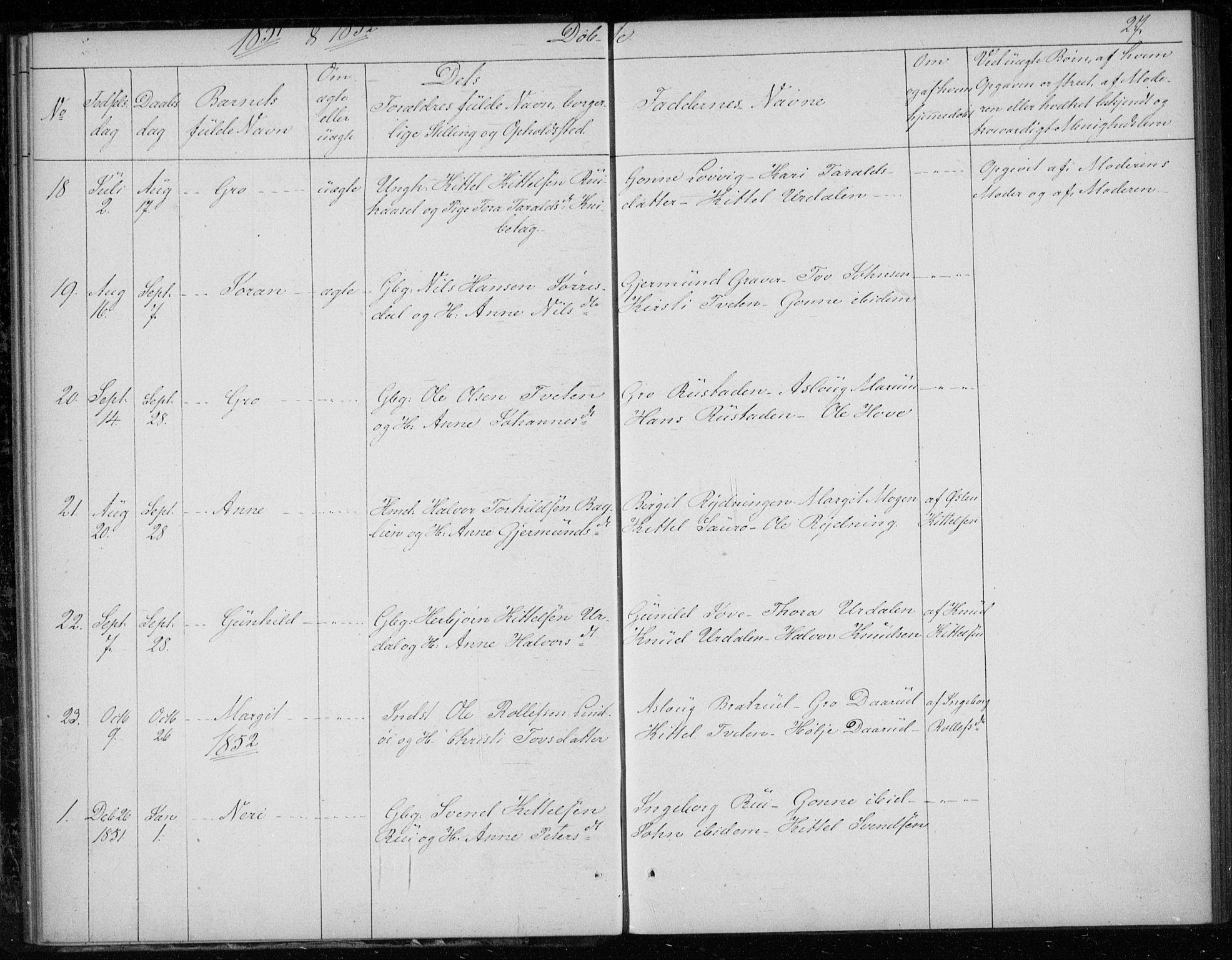 SAKO, Gransherad kirkebøker, F/Fb/L0003: Ministerialbok nr. II 3, 1844-1859, s. 27