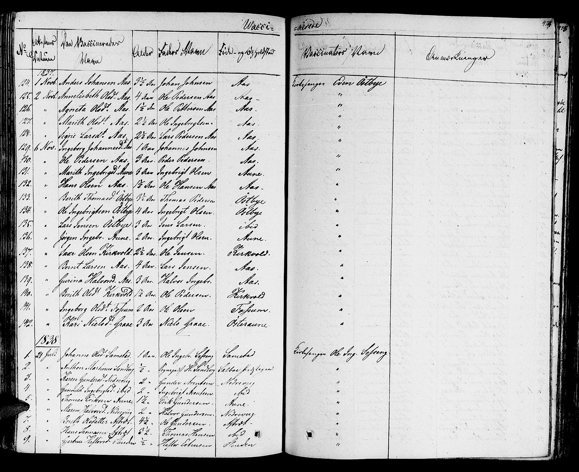 SAT, Ministerialprotokoller, klokkerbøker og fødselsregistre - Sør-Trøndelag, 695/L1143: Ministerialbok nr. 695A05 /1, 1824-1842, s. 474