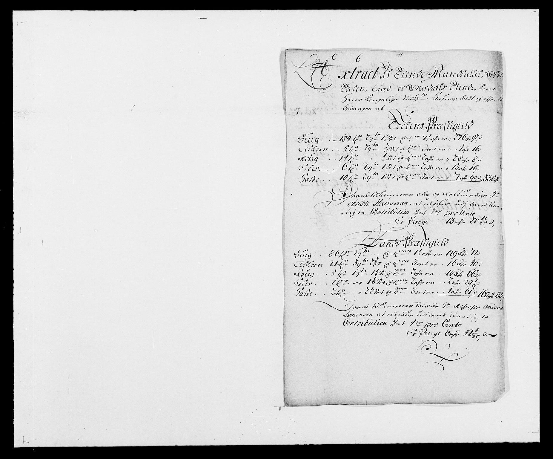 RA, Rentekammeret inntil 1814, Reviderte regnskaper, Fogderegnskap, R18/L1287: Fogderegnskap Hadeland, Toten og Valdres, 1688, s. 258
