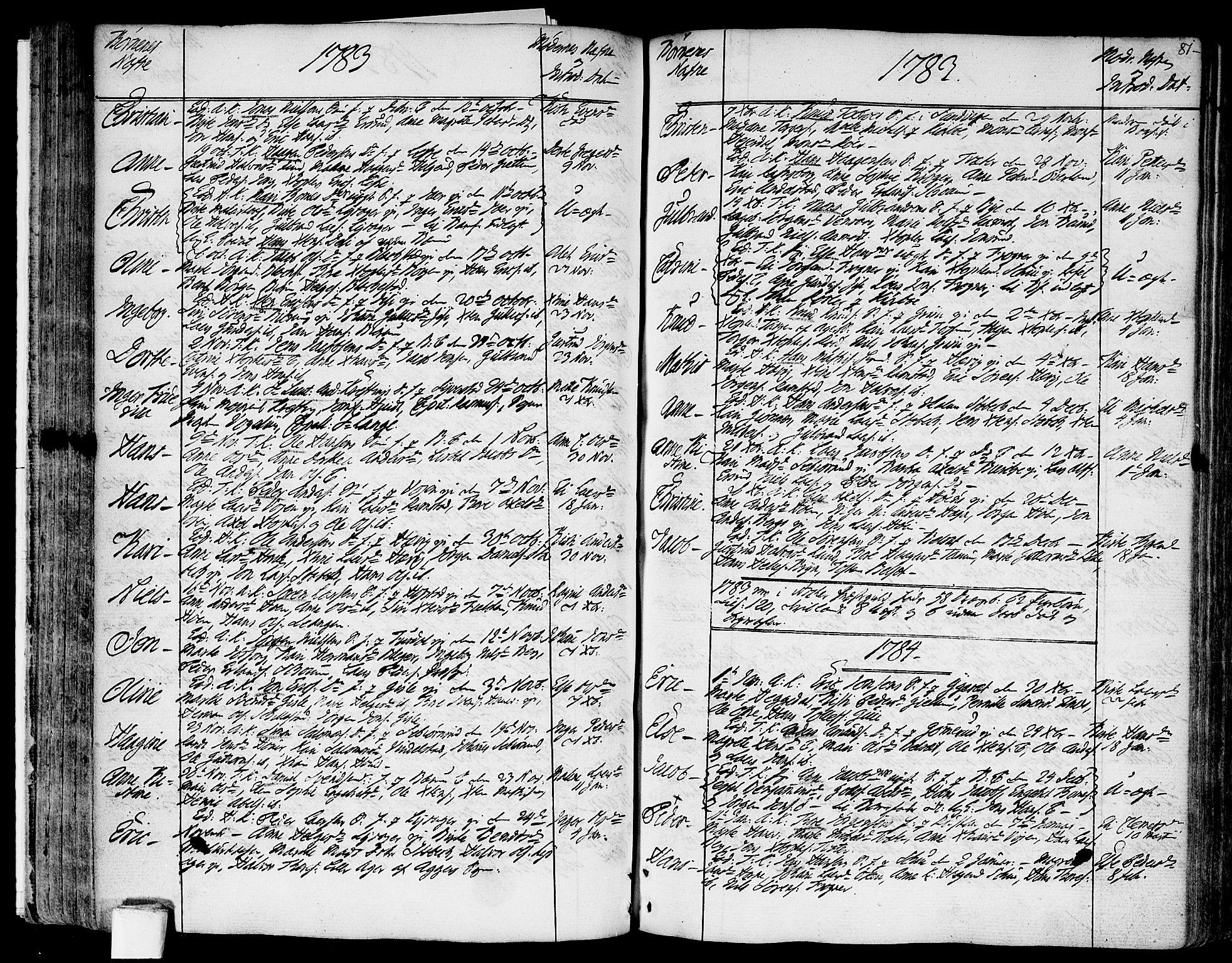 SAO, Asker prestekontor Kirkebøker, F/Fa/L0003: Ministerialbok nr. I 3, 1767-1807, s. 81