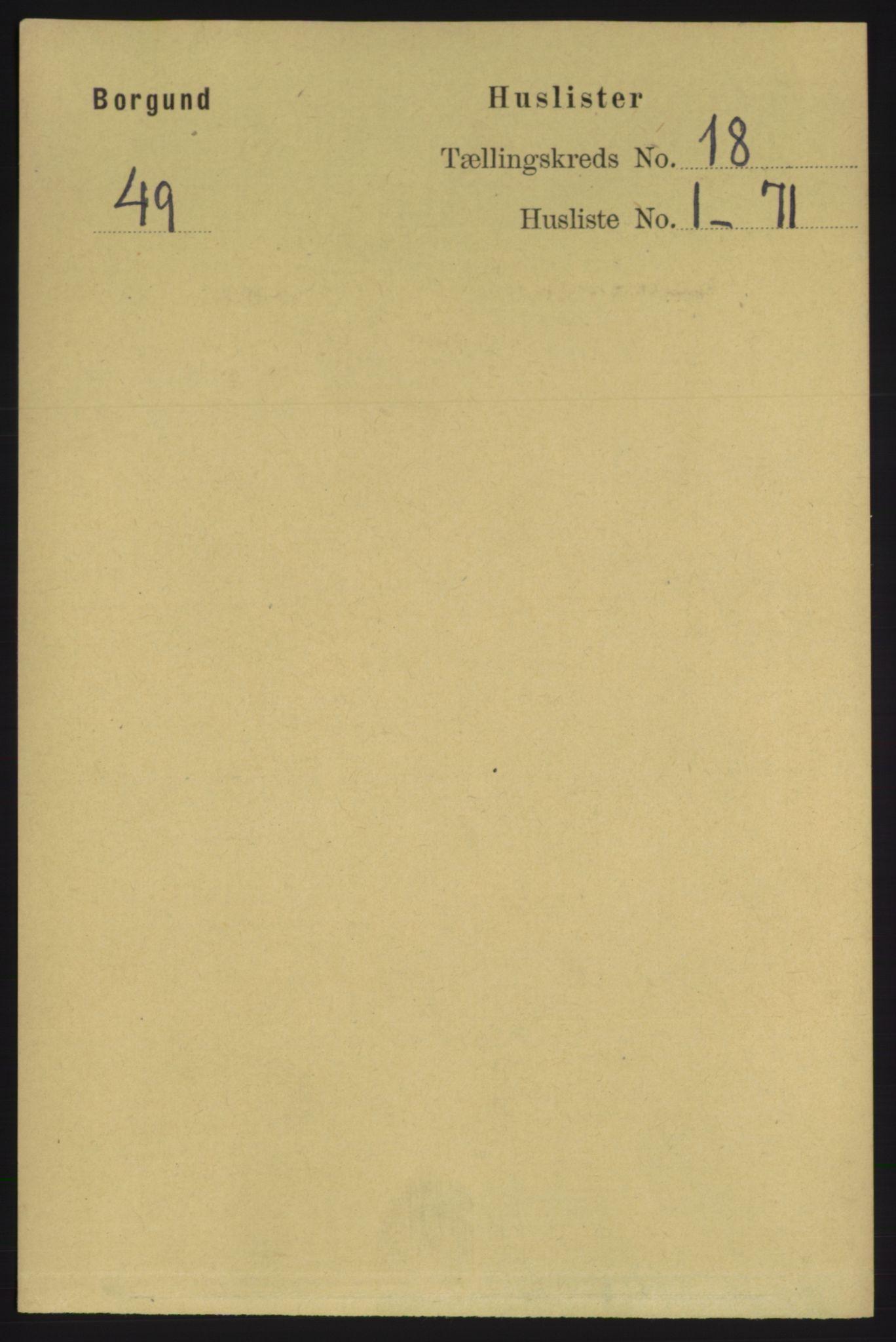 RA, Folketelling 1891 for 1531 Borgund herred, 1891, s. 5414