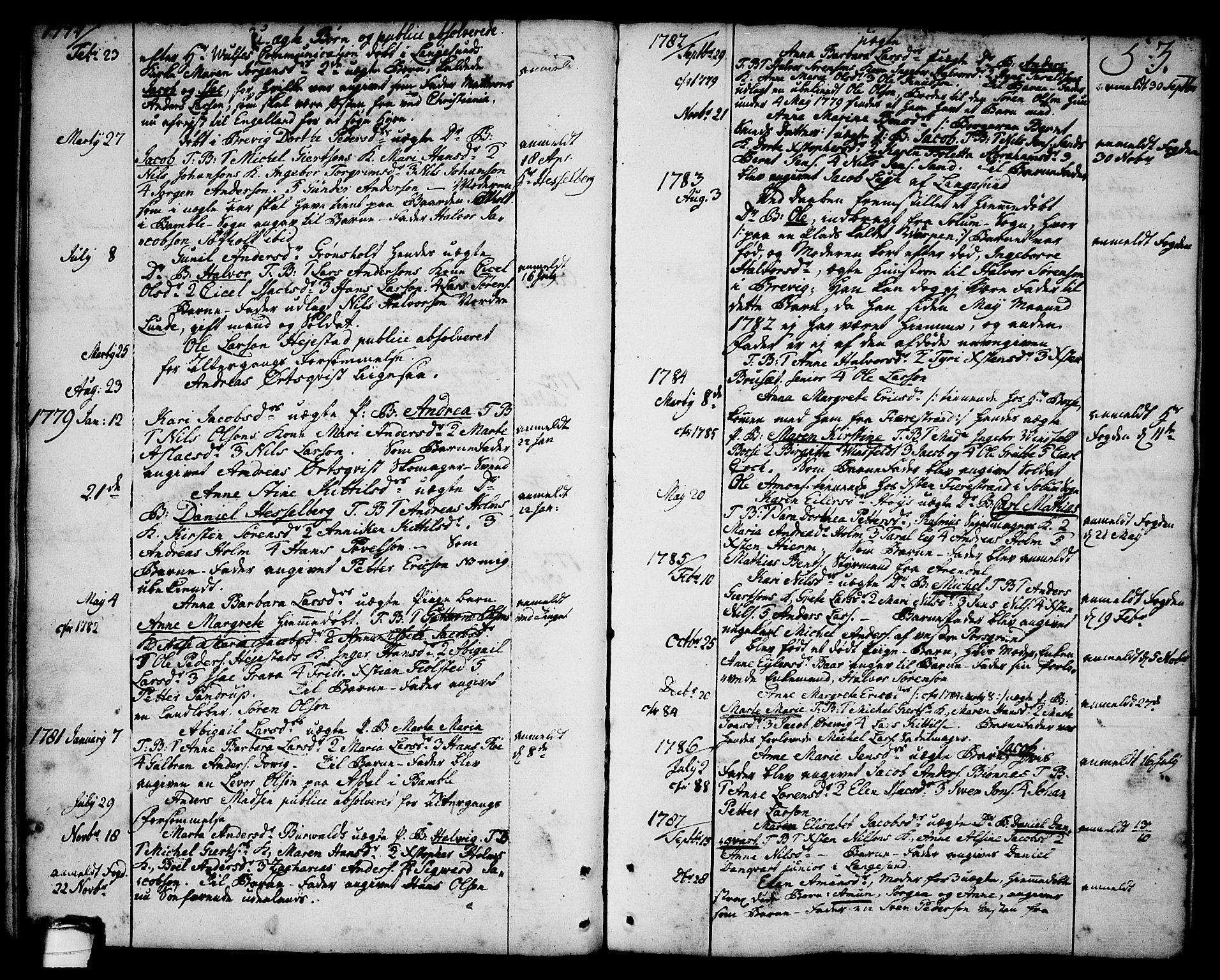 SAKO, Brevik kirkebøker, F/Fa/L0003: Ministerialbok nr. 3, 1764-1814, s. 53