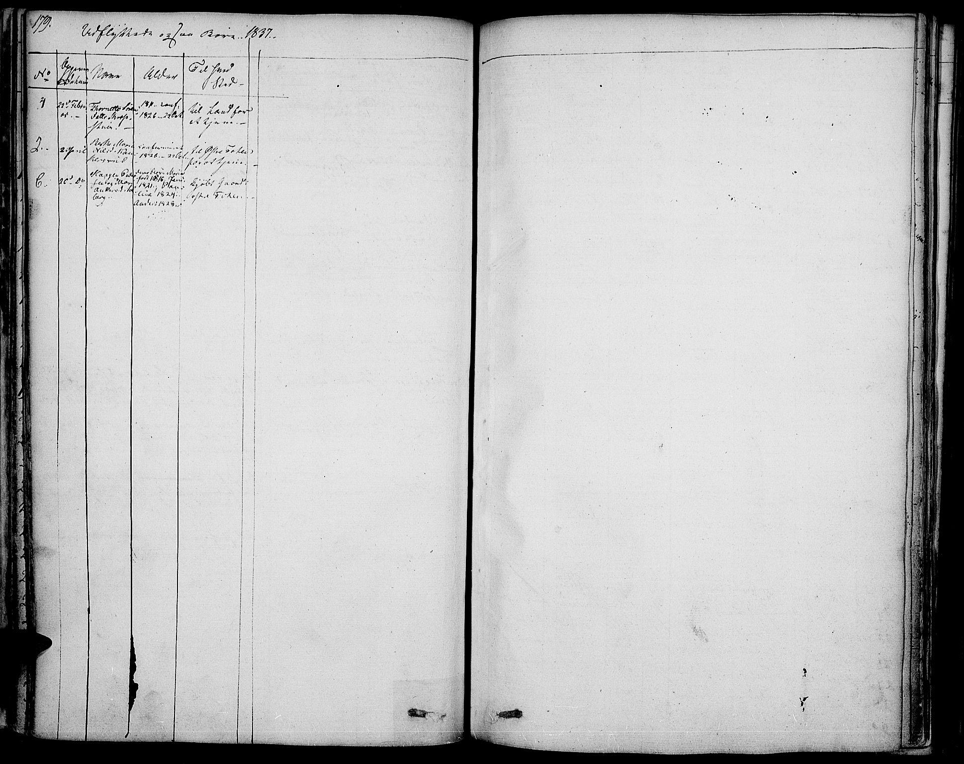 SAH, Vestre Toten prestekontor, Ministerialbok nr. 2, 1825-1837, s. 179