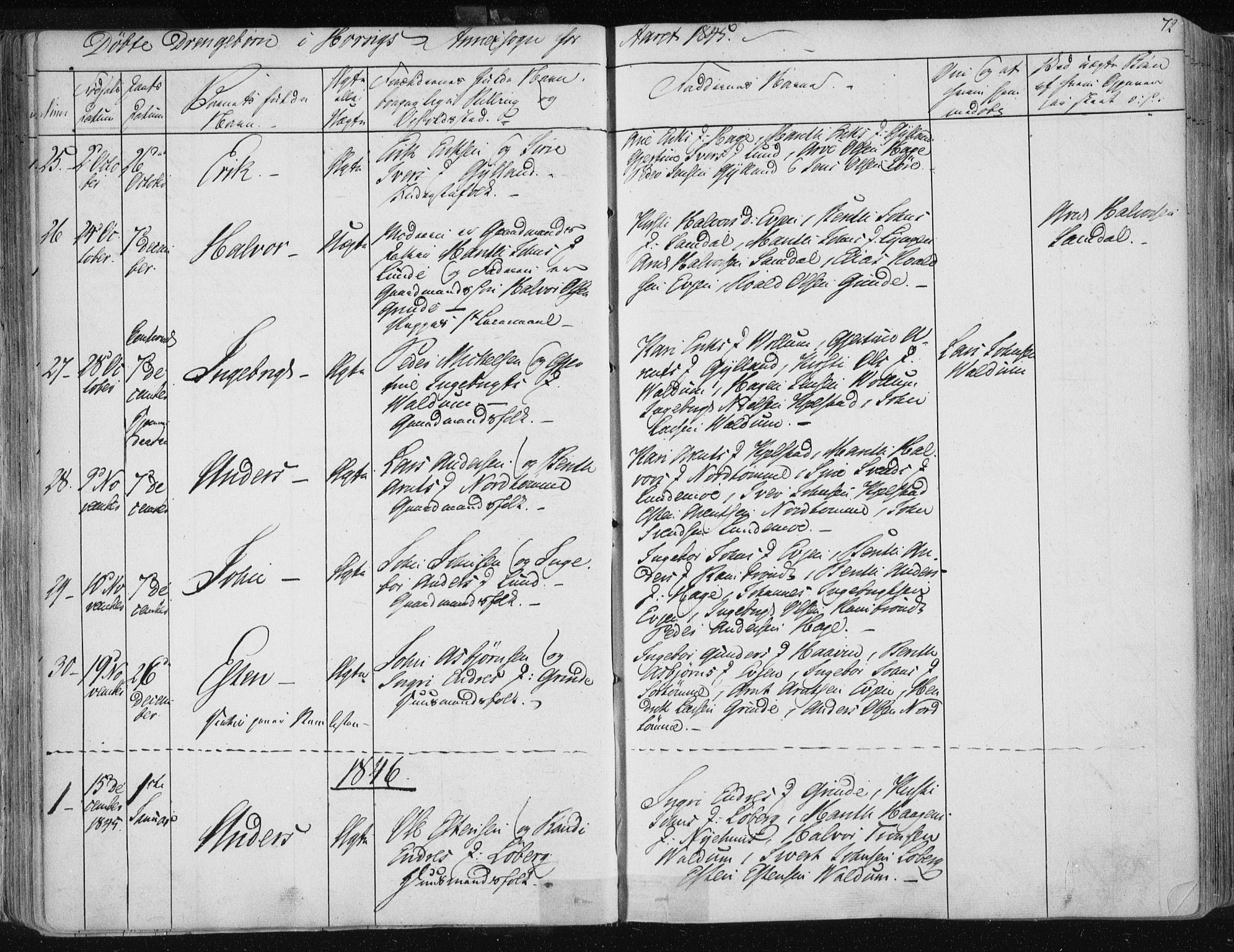 SAT, Ministerialprotokoller, klokkerbøker og fødselsregistre - Sør-Trøndelag, 687/L0998: Ministerialbok nr. 687A05 /2, 1843-1849, s. 72