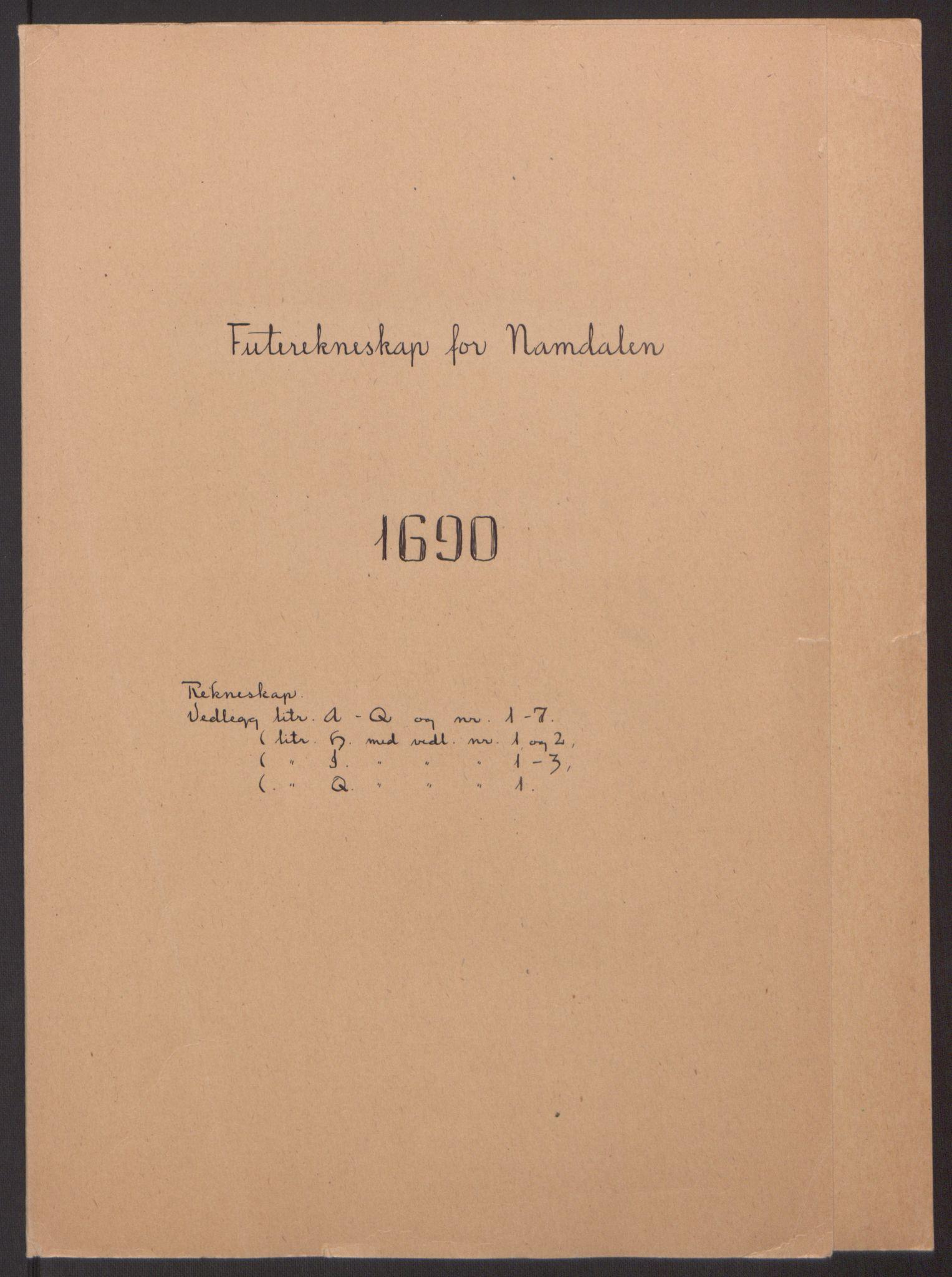 RA, Rentekammeret inntil 1814, Reviderte regnskaper, Fogderegnskap, R64/L4423: Fogderegnskap Namdal, 1690-1691, s. 2