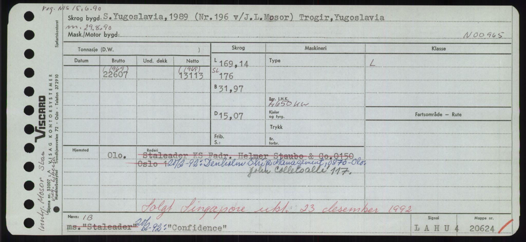 RA, Sjøfartsdirektoratet med forløpere, Skipsmålingen, H/Hd/L0008: Fartøy, C-D, s. 189