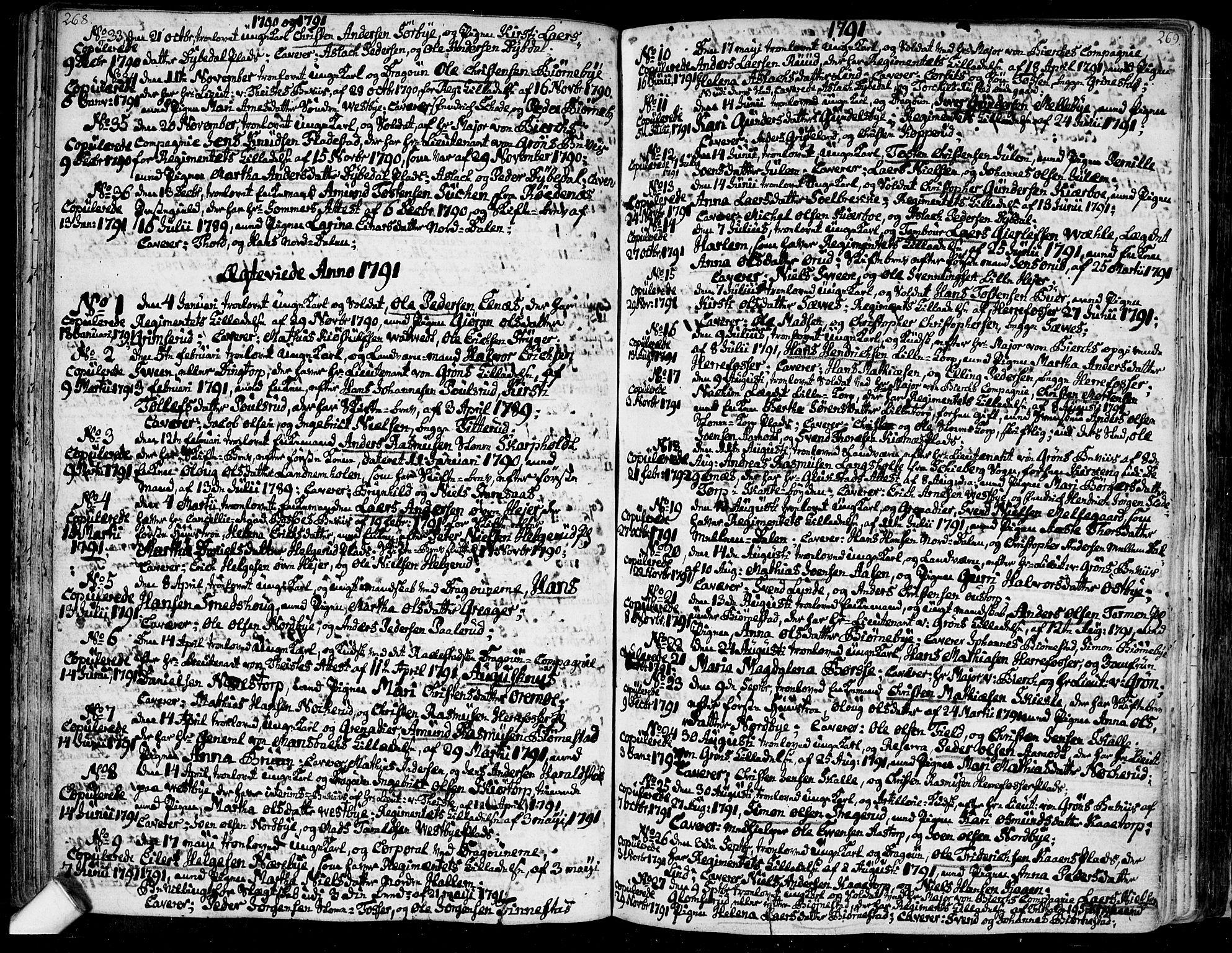 SAO, Rakkestad prestekontor Kirkebøker, F/Fa/L0005: Ministerialbok nr. I 5, 1784-1814, s. 268-269