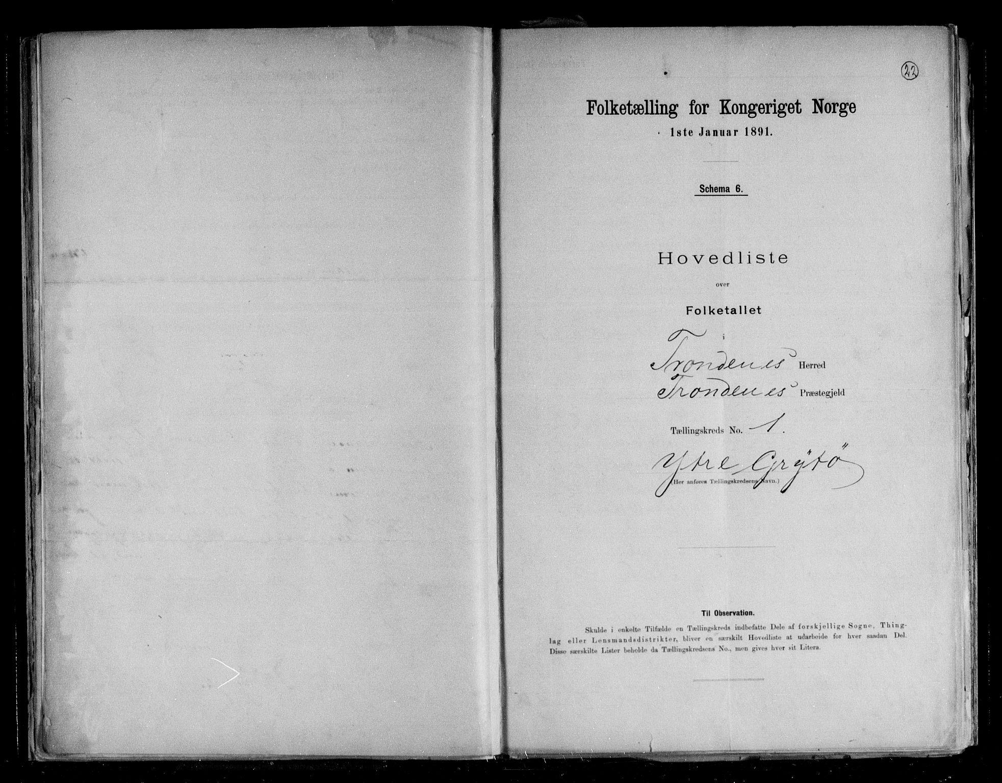 RA, Folketelling 1891 for 1914 Trondenes herred, 1891, s. 4