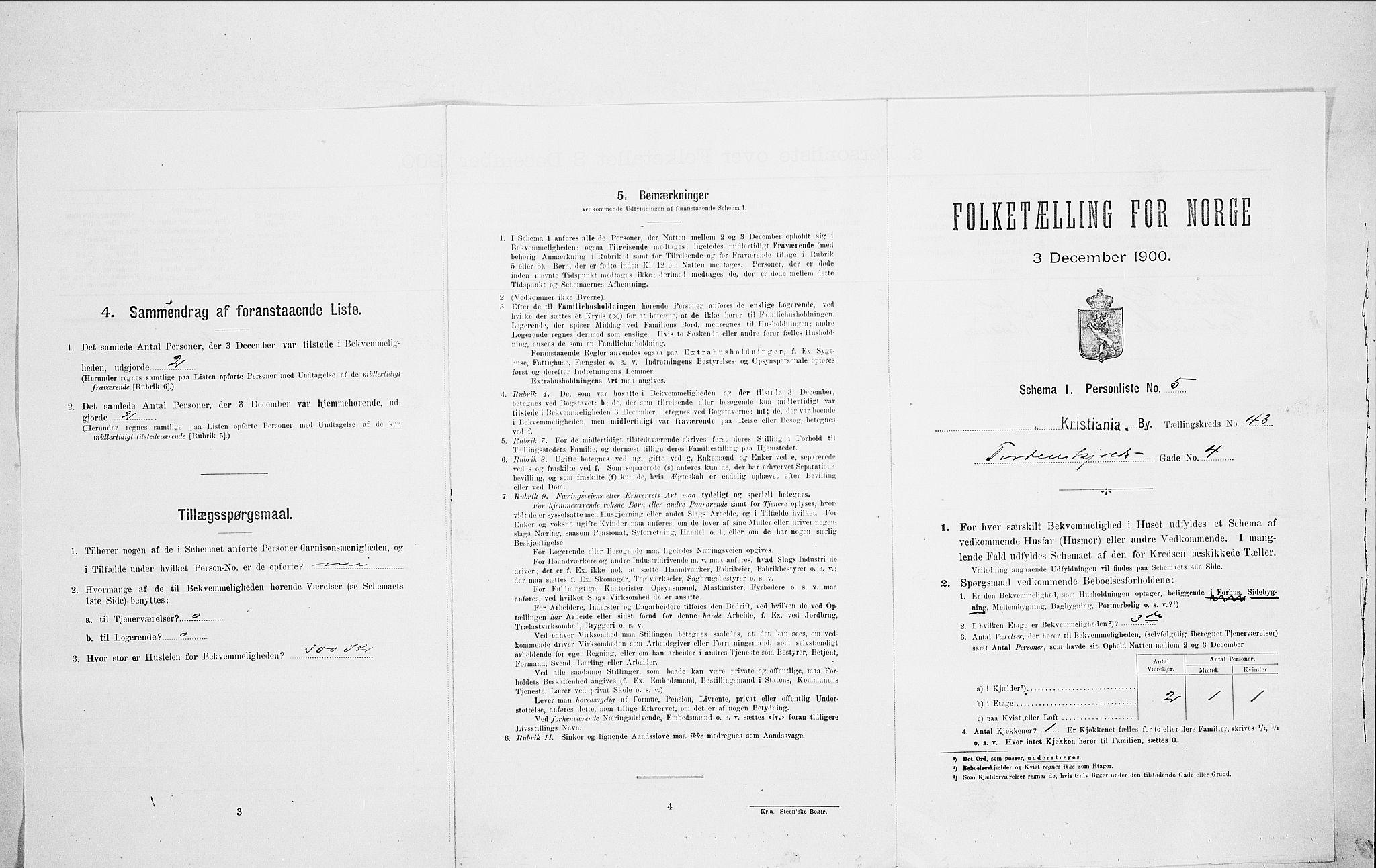 SAO, Folketelling 1900 for 0301 Kristiania kjøpstad, 1900, s. 102648