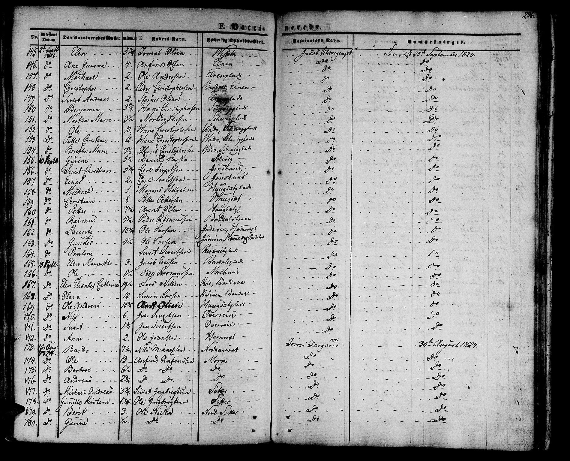 SAT, Ministerialprotokoller, klokkerbøker og fødselsregistre - Nord-Trøndelag, 741/L0390: Ministerialbok nr. 741A04, 1822-1836, s. 236