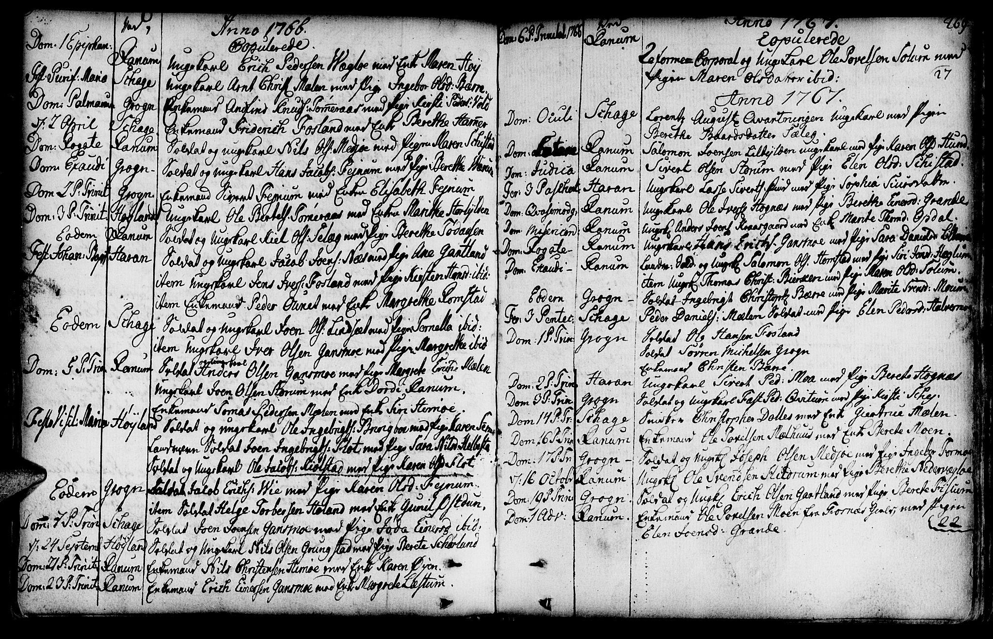 SAT, Ministerialprotokoller, klokkerbøker og fødselsregistre - Nord-Trøndelag, 764/L0542: Ministerialbok nr. 764A02, 1748-1779, s. 269