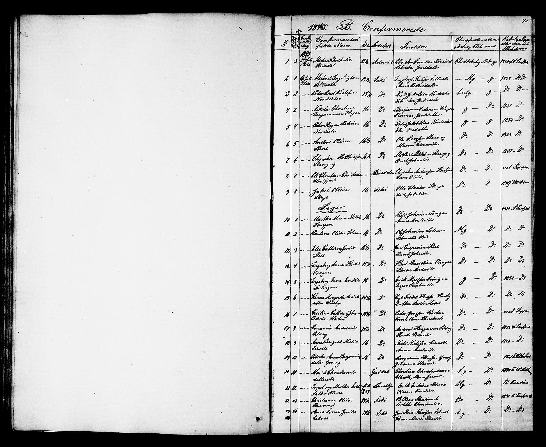 SAT, Ministerialprotokoller, klokkerbøker og fødselsregistre - Nord-Trøndelag, 788/L0695: Ministerialbok nr. 788A02, 1843-1862, s. 40