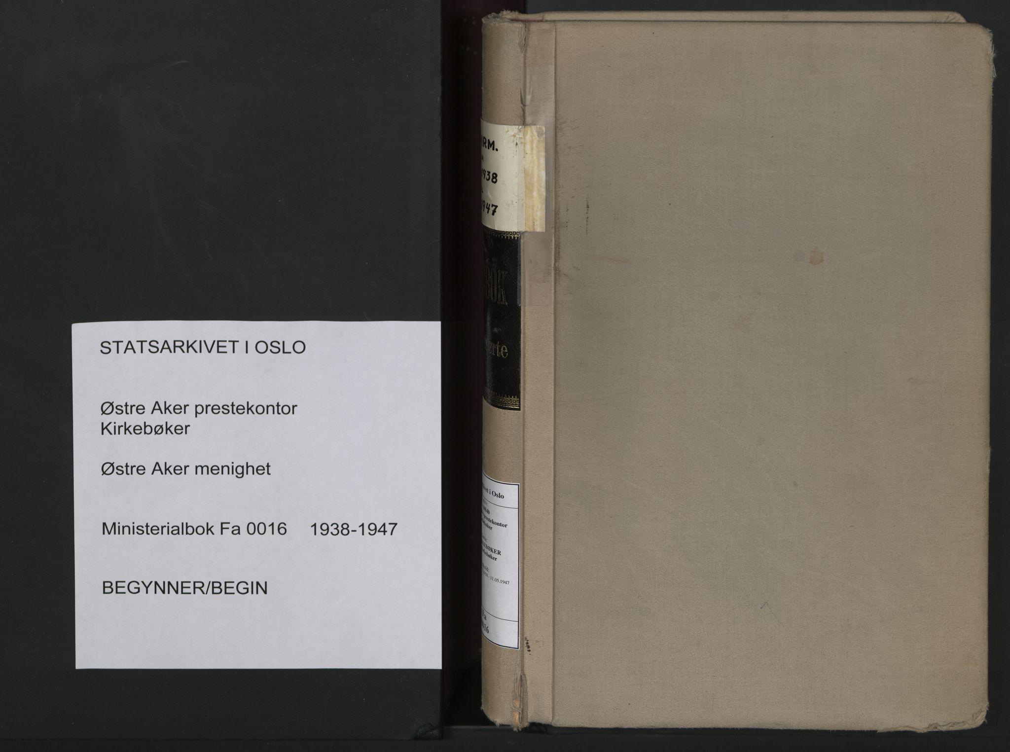 SAO, Østre Aker prestekontor Kirkebøker, F/Fa/L0016: Ministerialbok nr. I 16, 1938-1947