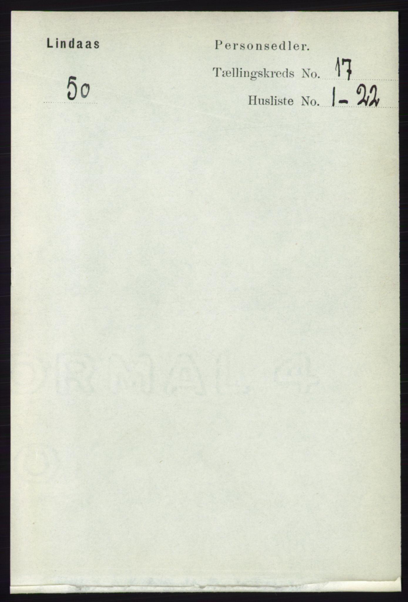 RA, Folketelling 1891 for 1263 Lindås herred, 1891, s. 6131