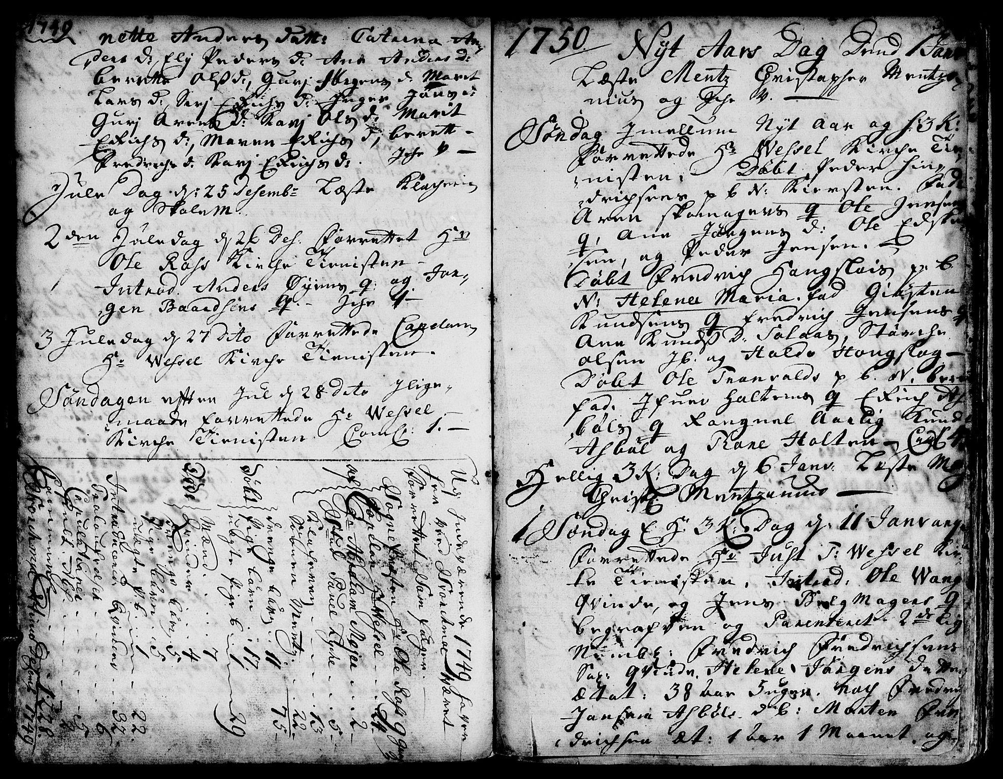 SAT, Ministerialprotokoller, klokkerbøker og fødselsregistre - Sør-Trøndelag, 671/L0839: Ministerialbok nr. 671A01, 1730-1755, s. 389-390
